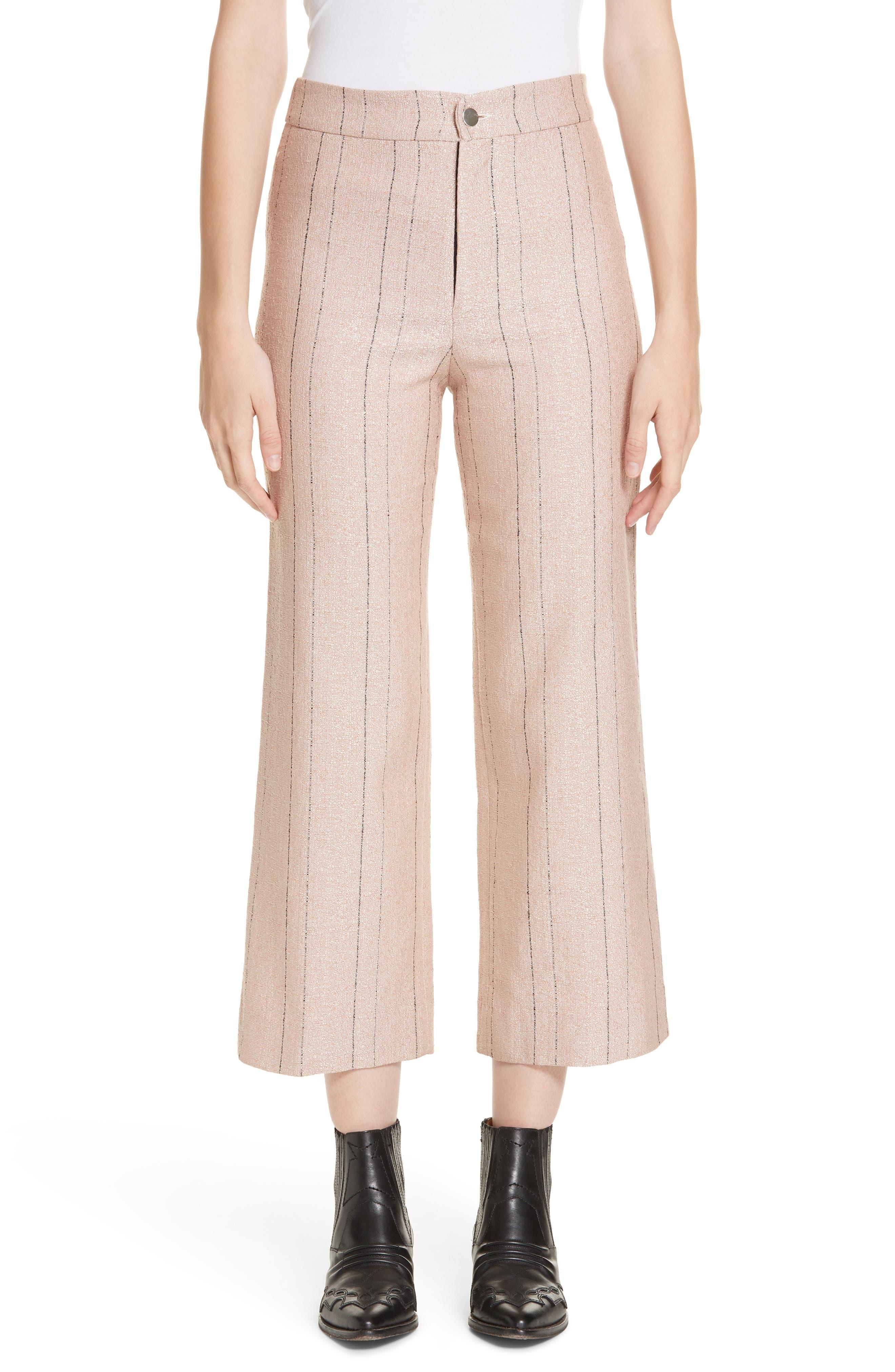 ROSEANNA Gang Stripe Pants in Poudre