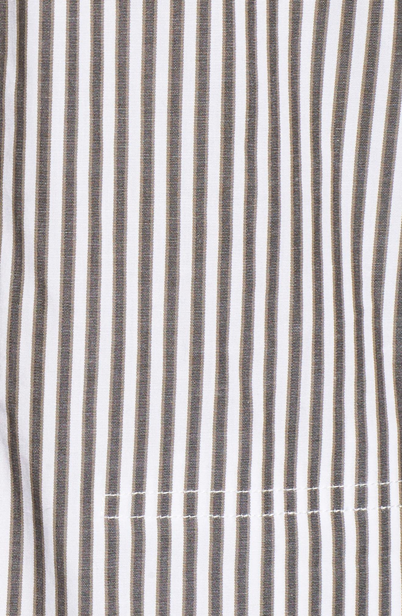 Stripe Button Down Shirtdress,                             Alternate thumbnail 5, color,                             345