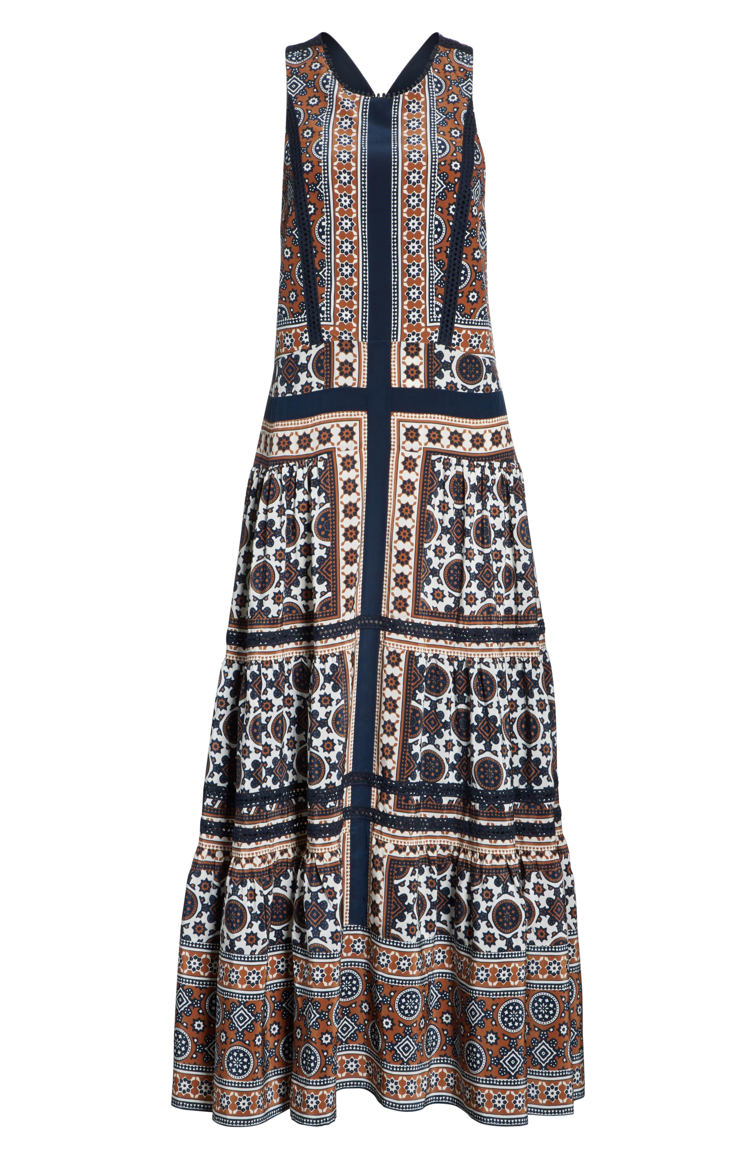 Ezri Print Maxi Dress,                             Alternate thumbnail 6, color,                             BLUE MULTI