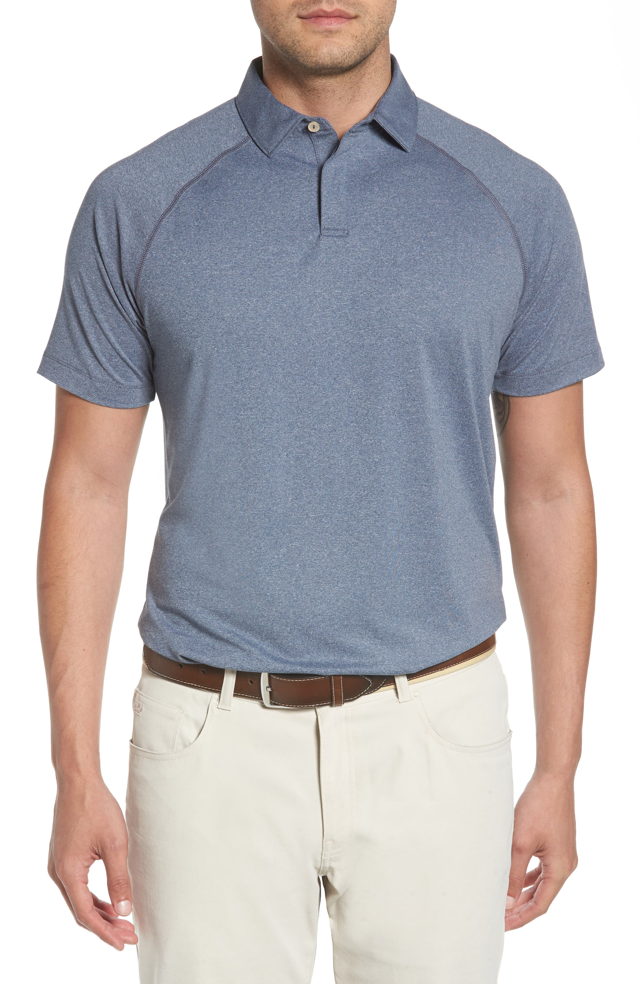 Crown Sport Amsterdam Technical Polo,                         Main,                         color, YANKEE BLUE