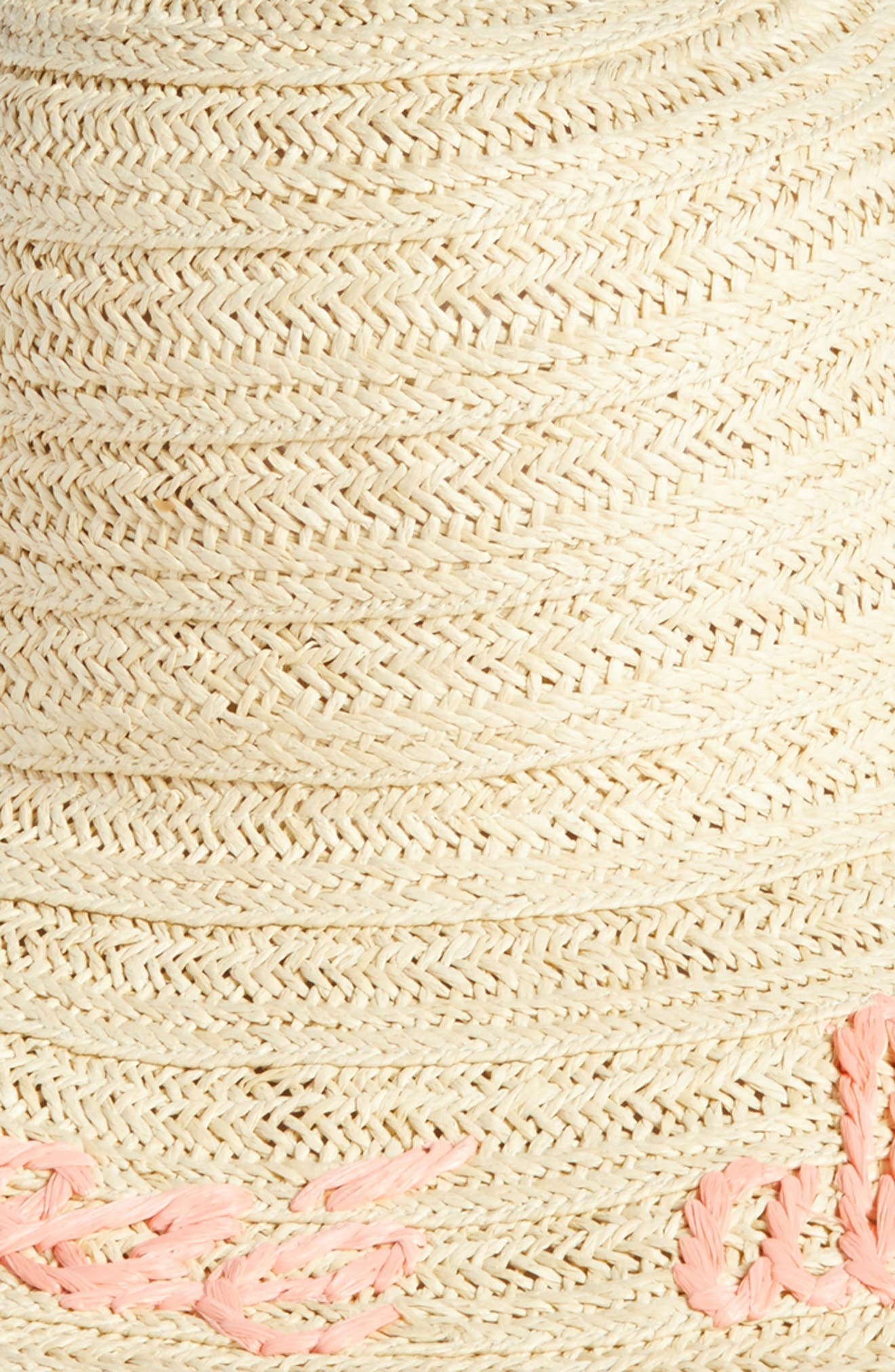 Wordplay Floppy Straw Sun Hat,                             Alternate thumbnail 6, color,
