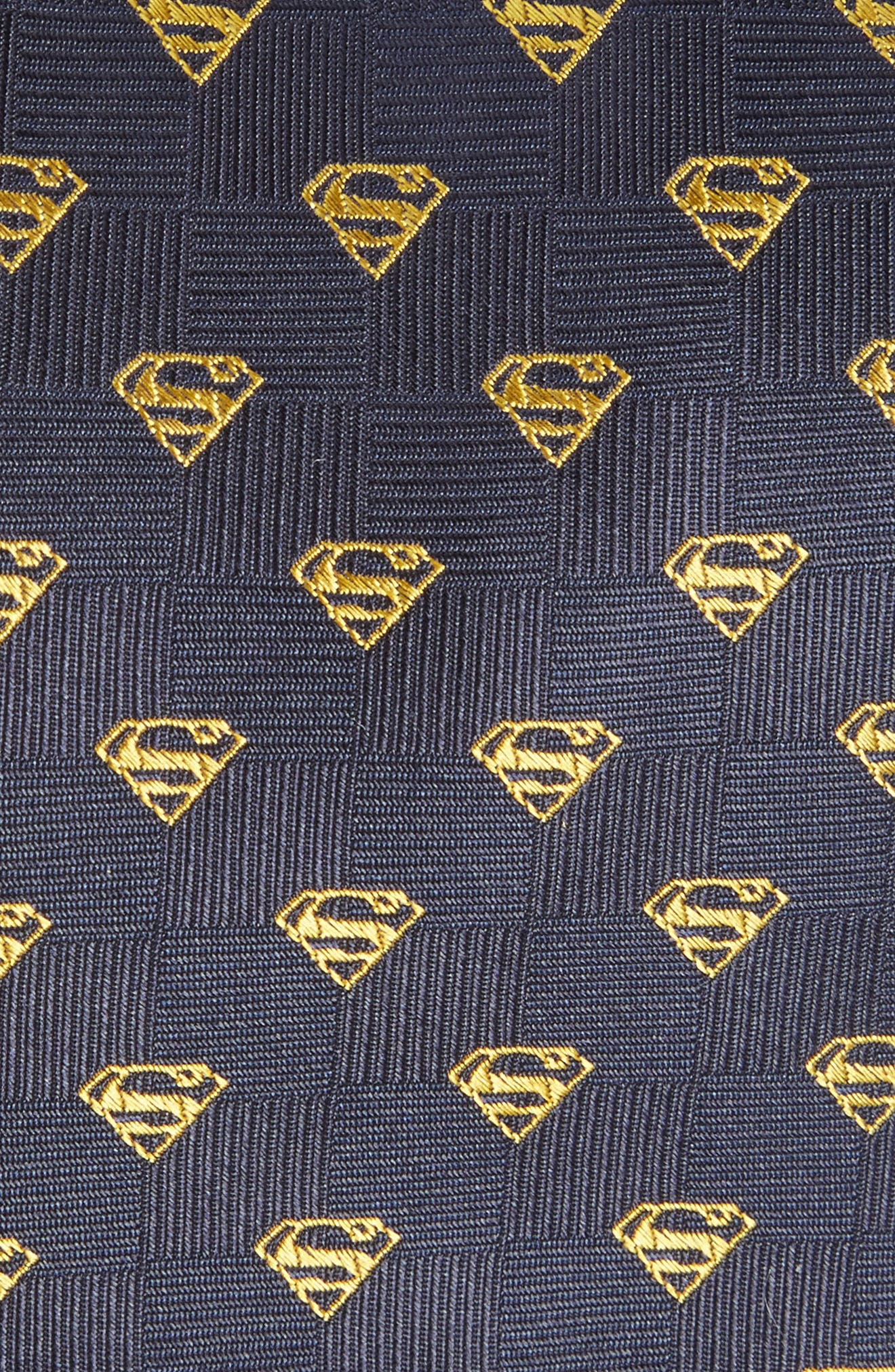 CUFFLINKS, INC.,                             'Superman Shield' Silk Tie,                             Alternate thumbnail 3, color,                             400