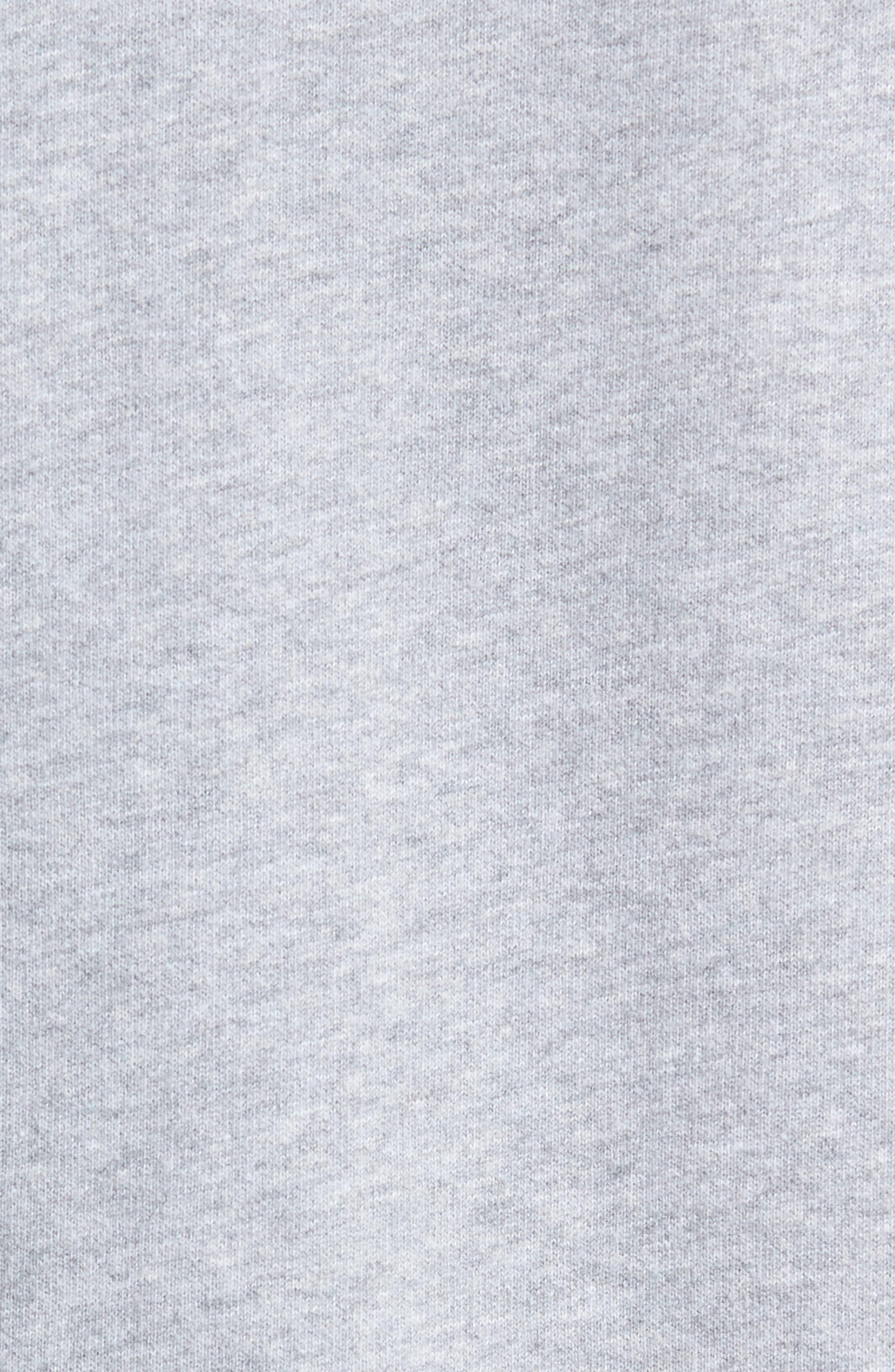 Trim Fit Zip-Up Hoodie,                             Alternate thumbnail 5, color,                             GREY MELANGE