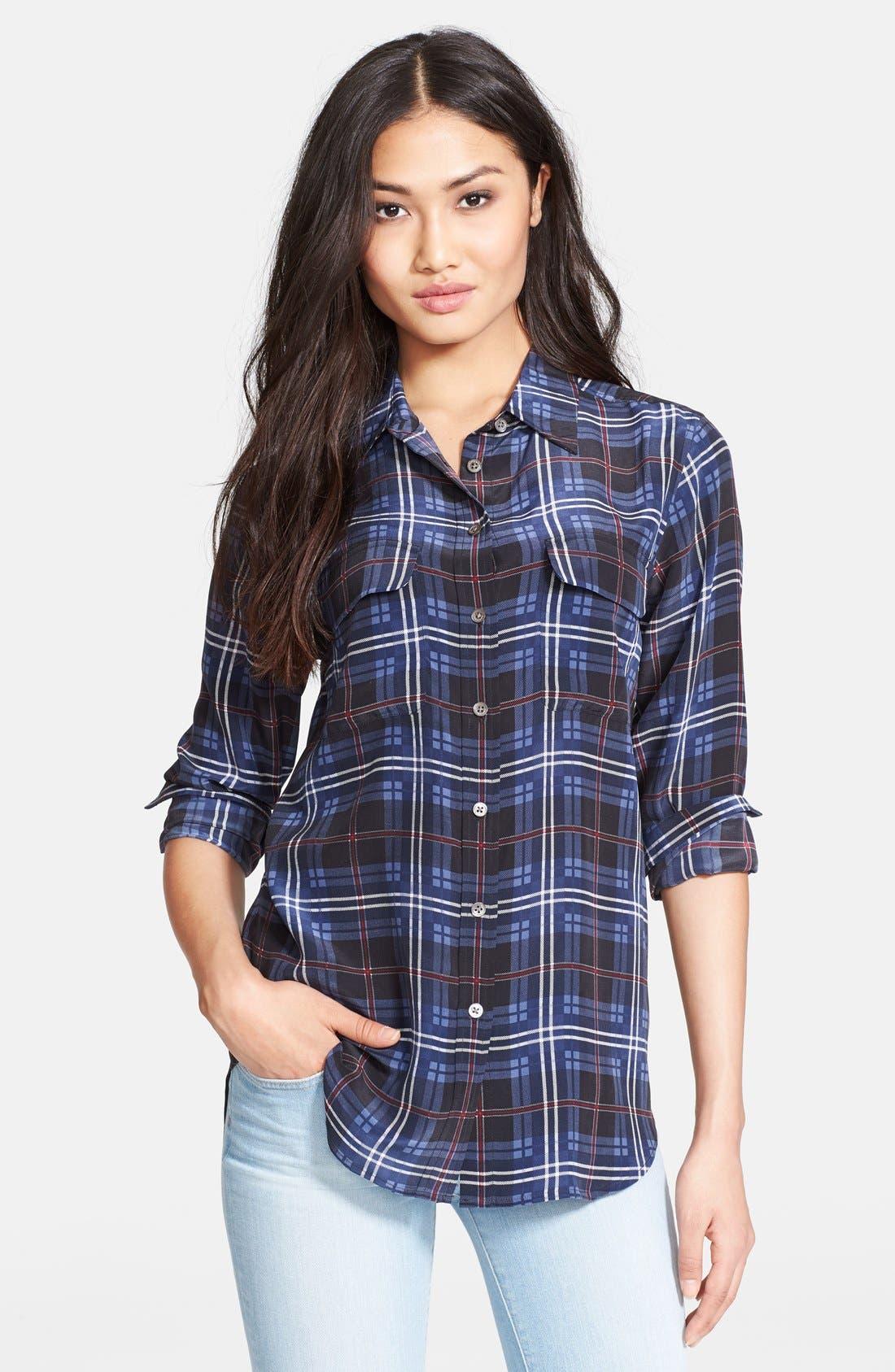 EQUIPMENT 'Slim Signature' Silk Shirt, Main, color, 400