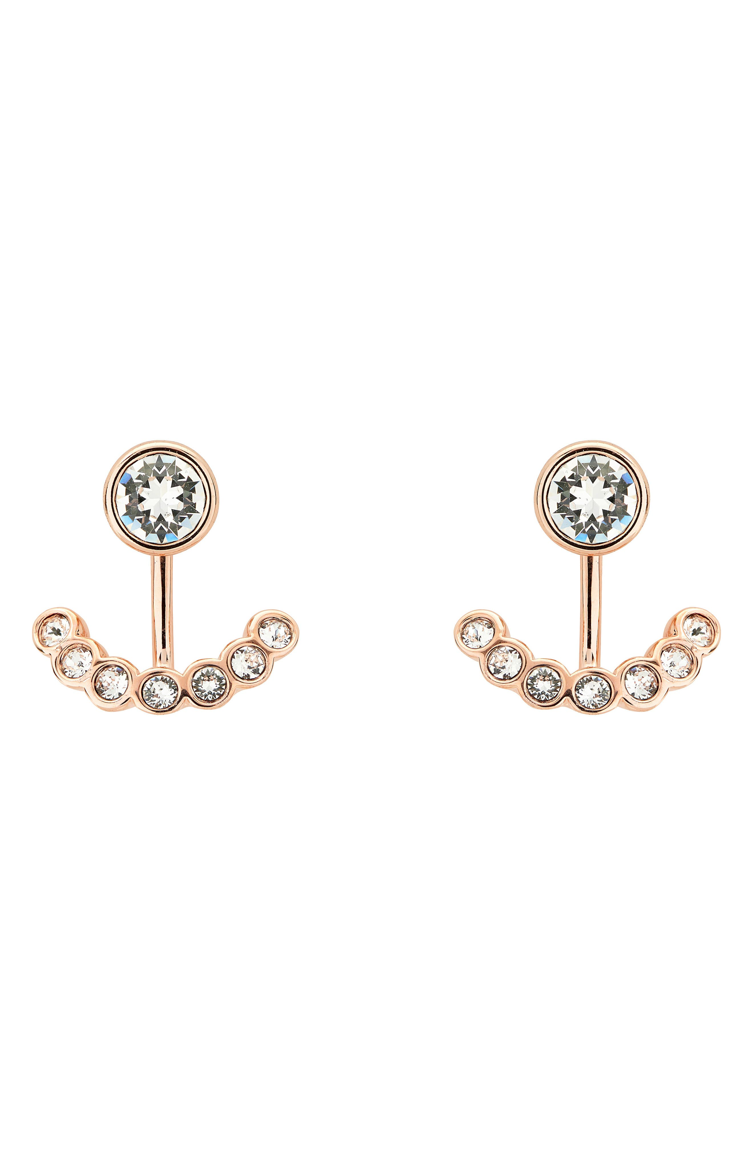 Concentric Crystal Drop Earrings,                             Main thumbnail 1, color,