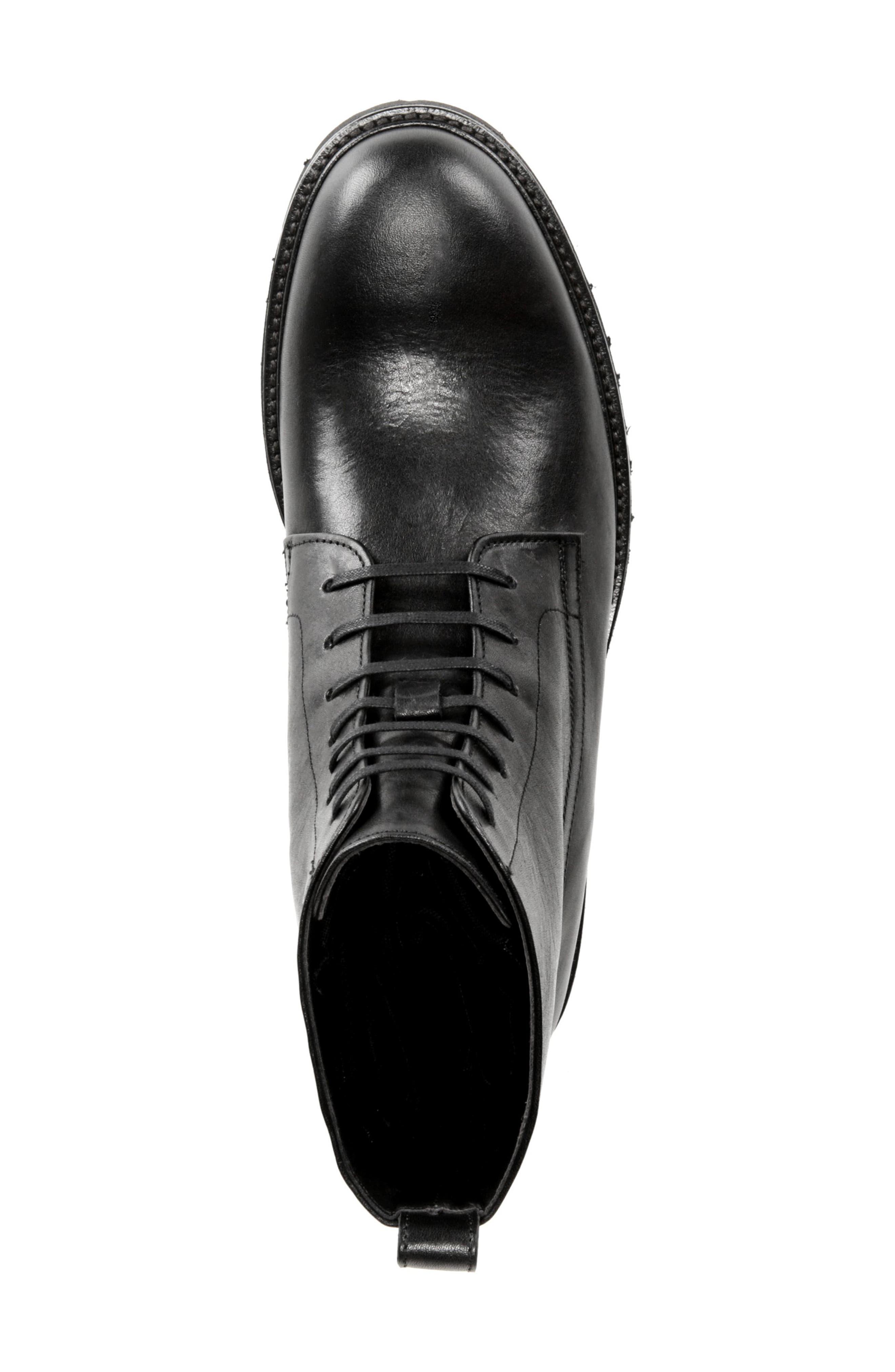 Commander Plain Toe Boot,                             Alternate thumbnail 5, color,                             BLACK