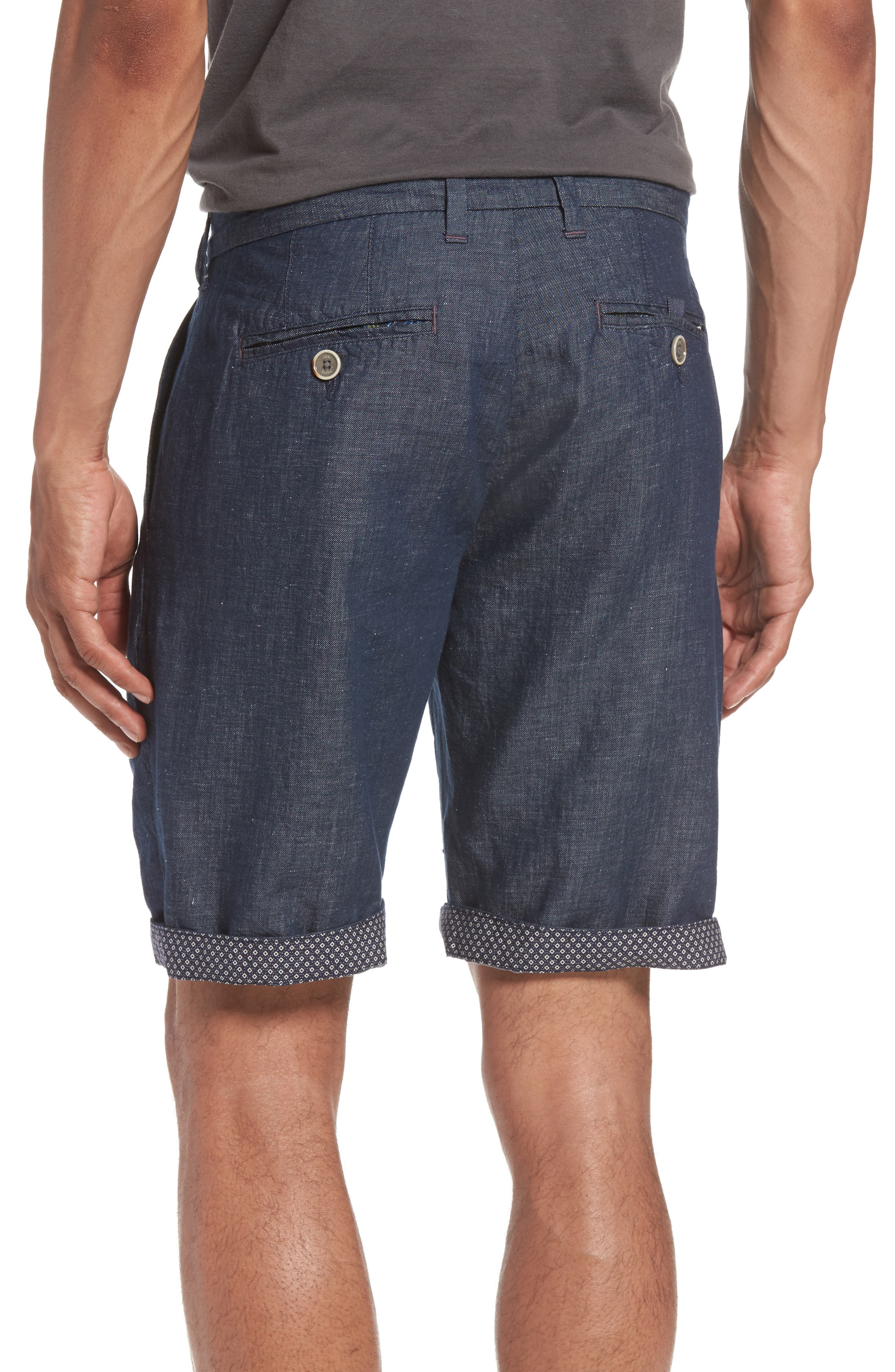 Frisho Cuff Denim Shorts,                             Alternate thumbnail 4, color,