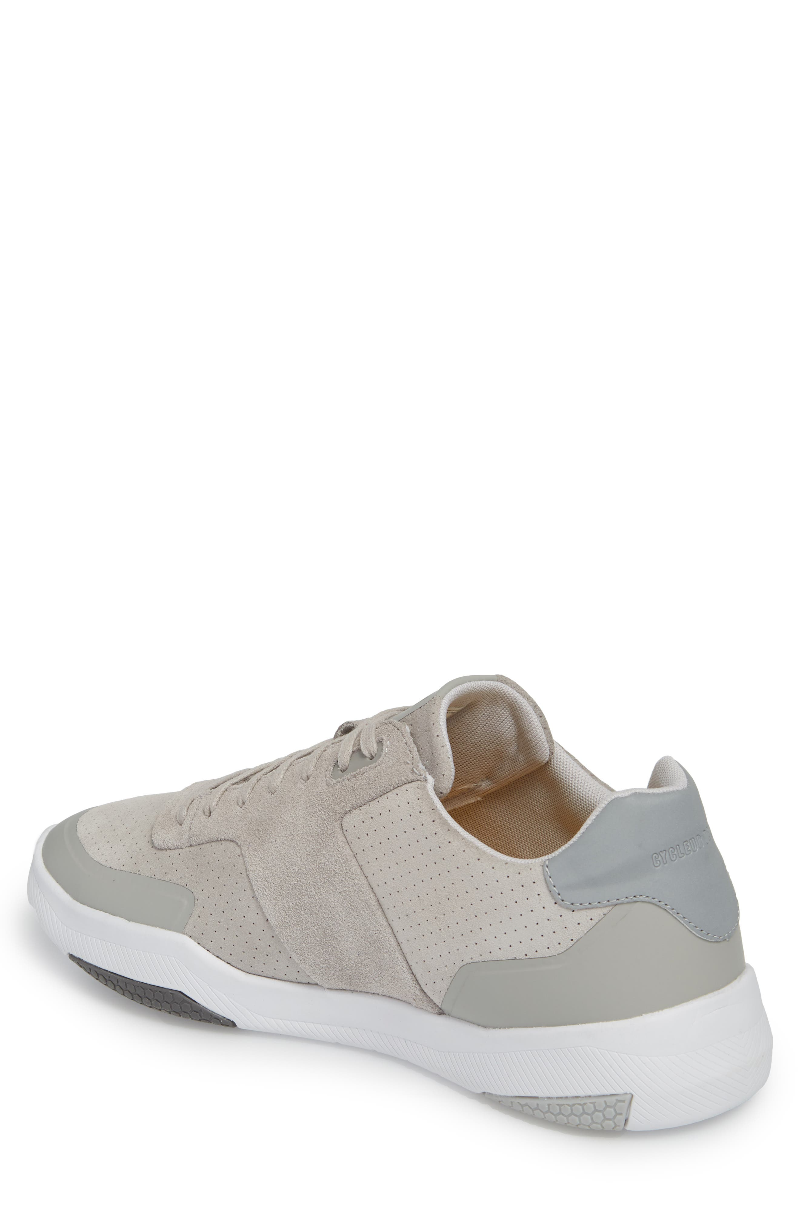 Shima Low Top Sneaker,                             Alternate thumbnail 2, color,                             GREY SUEDE