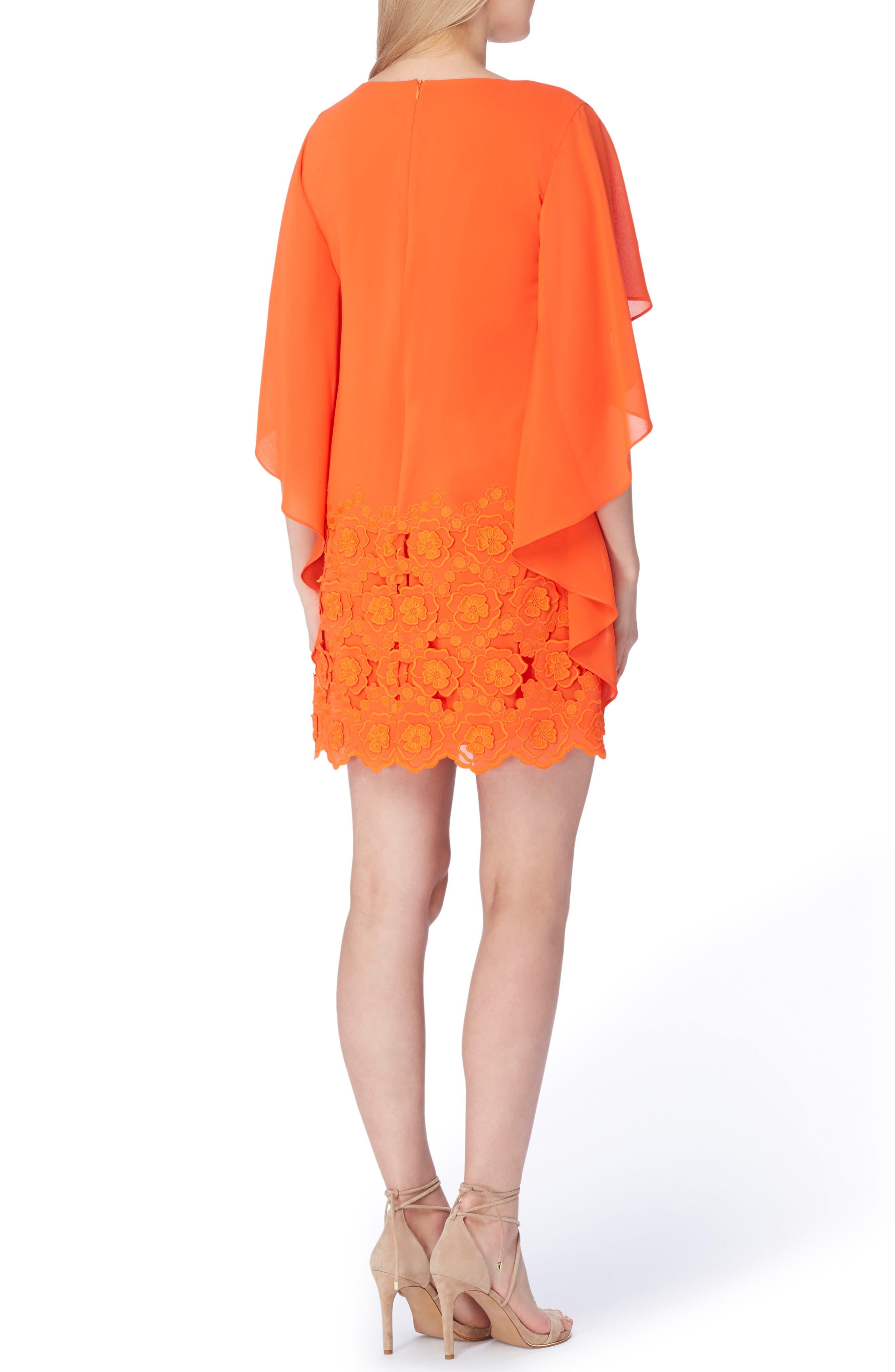 Capelet Shift Dress,                             Alternate thumbnail 2, color,