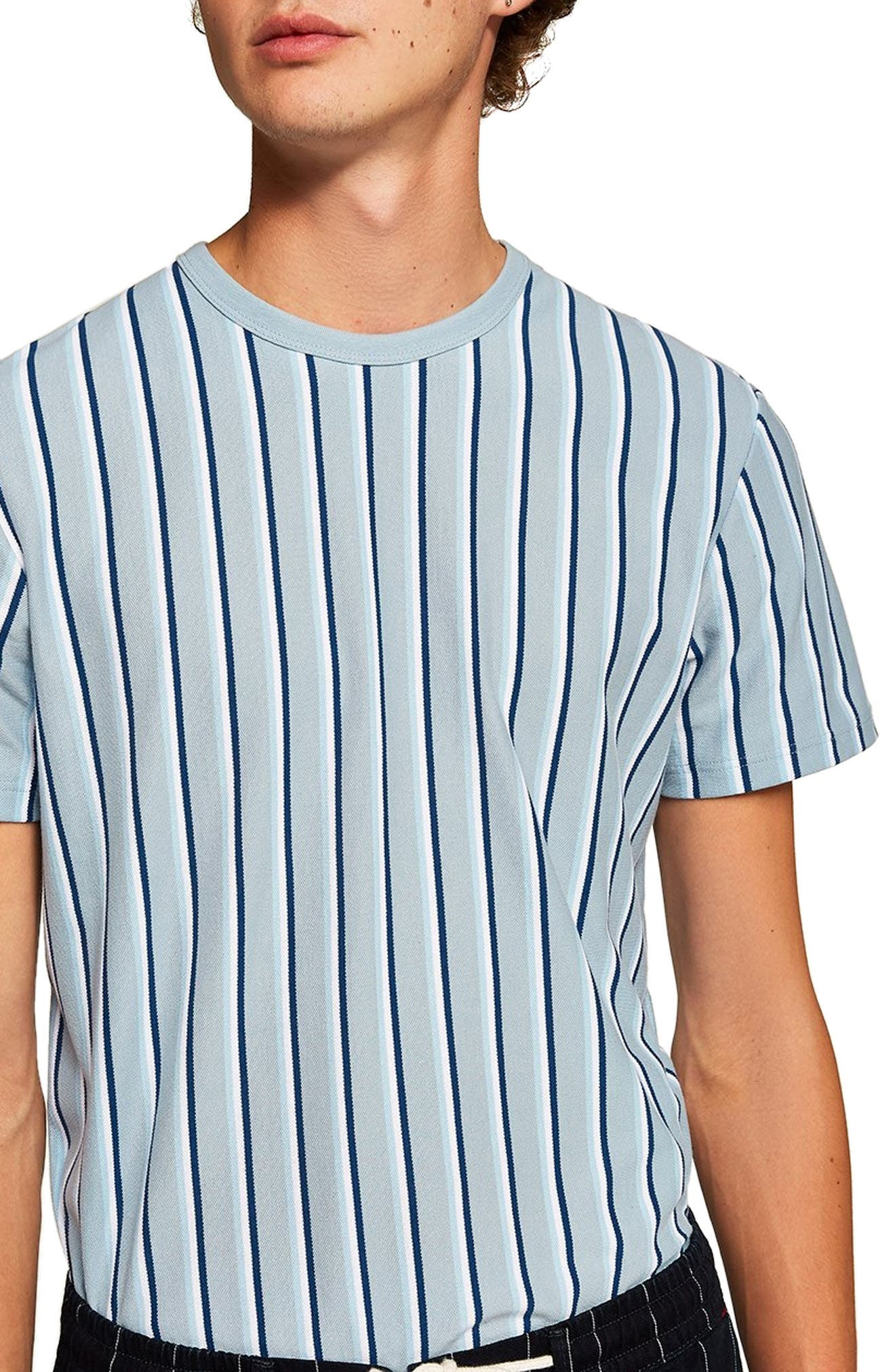 Stripe T-Shirt,                             Main thumbnail 1, color,                             NAVY BLUE