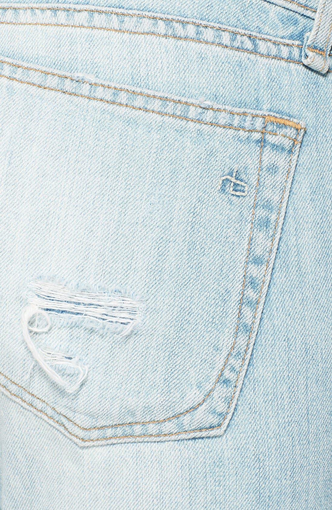 'The Dre' Distressed Skinny Boyfriend Jeans,                             Alternate thumbnail 3, color,                             455