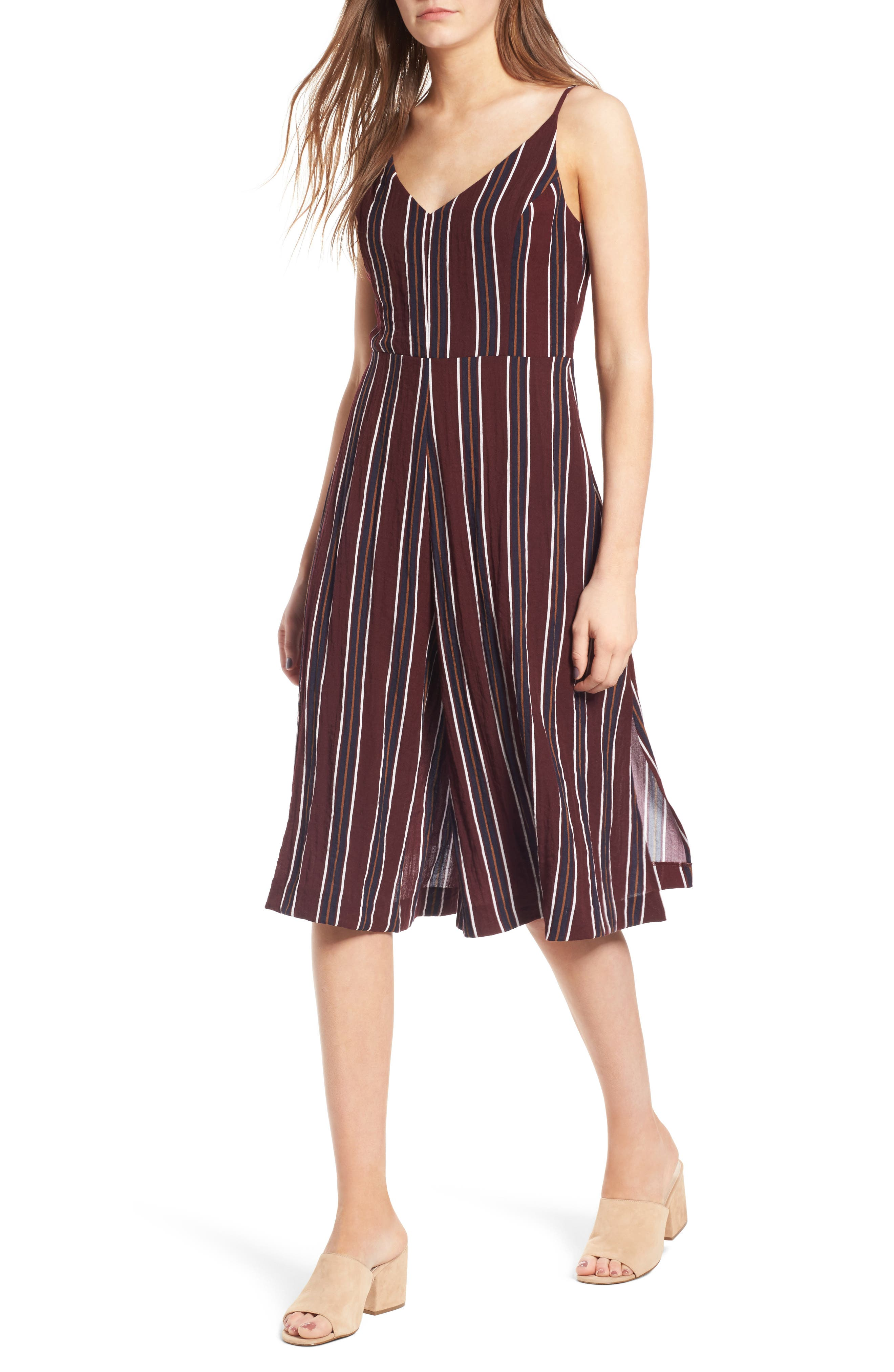 Stripe Wide Leg Jumpsuit,                         Main,                         color, 930