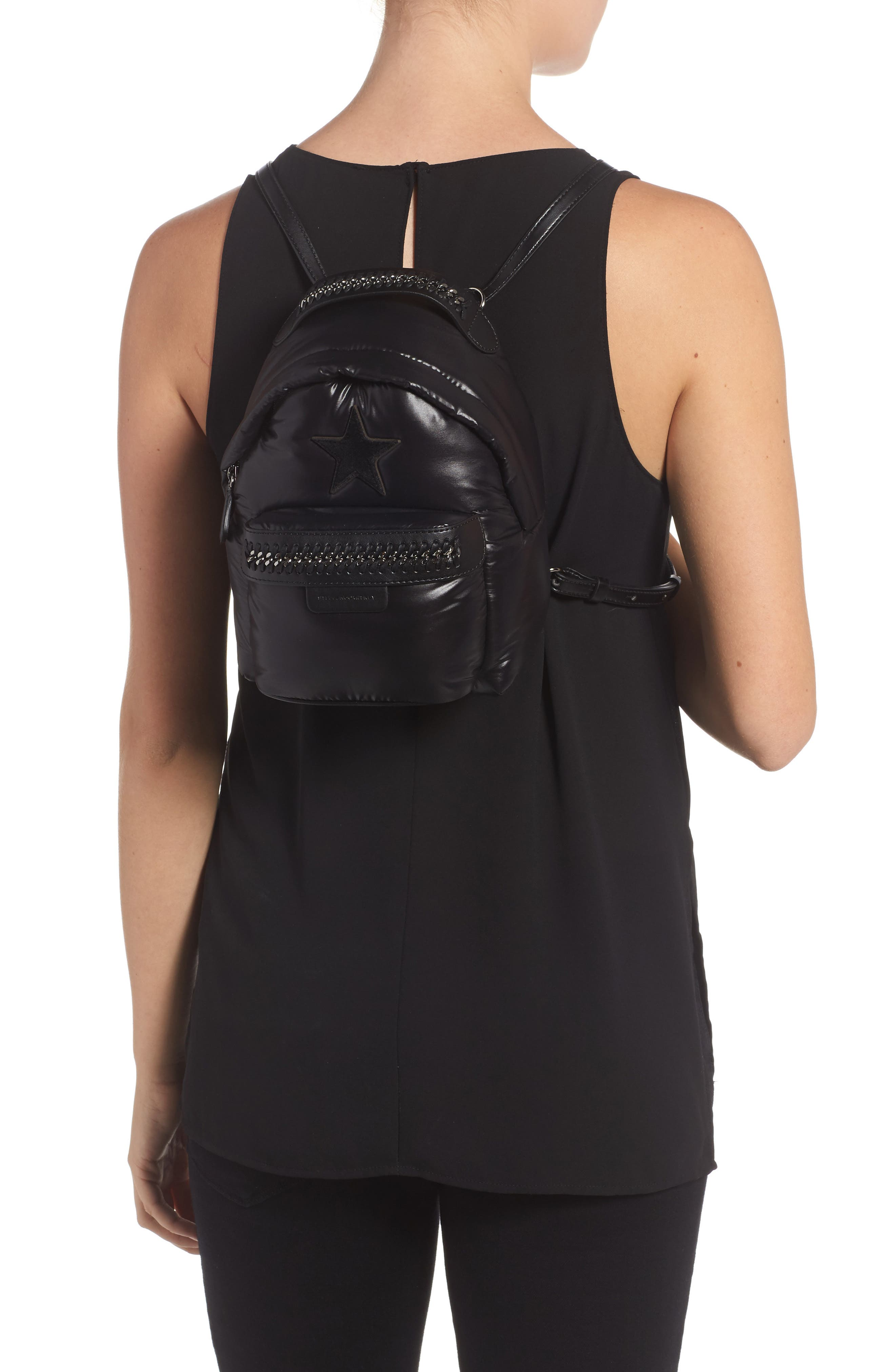 Mini Falabella Go Star Backpack,                             Alternate thumbnail 2, color,                             001