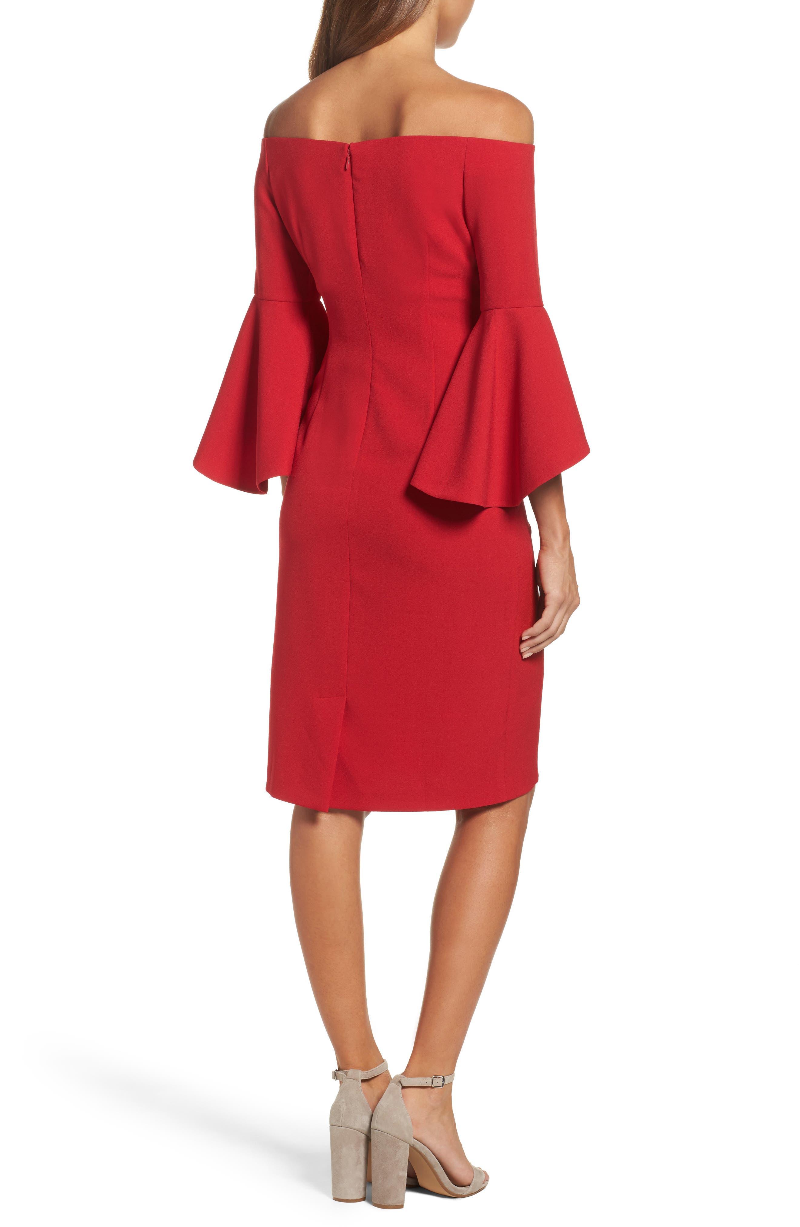 Off the Shoulder Dress,                             Alternate thumbnail 2, color,                             RED JESTER