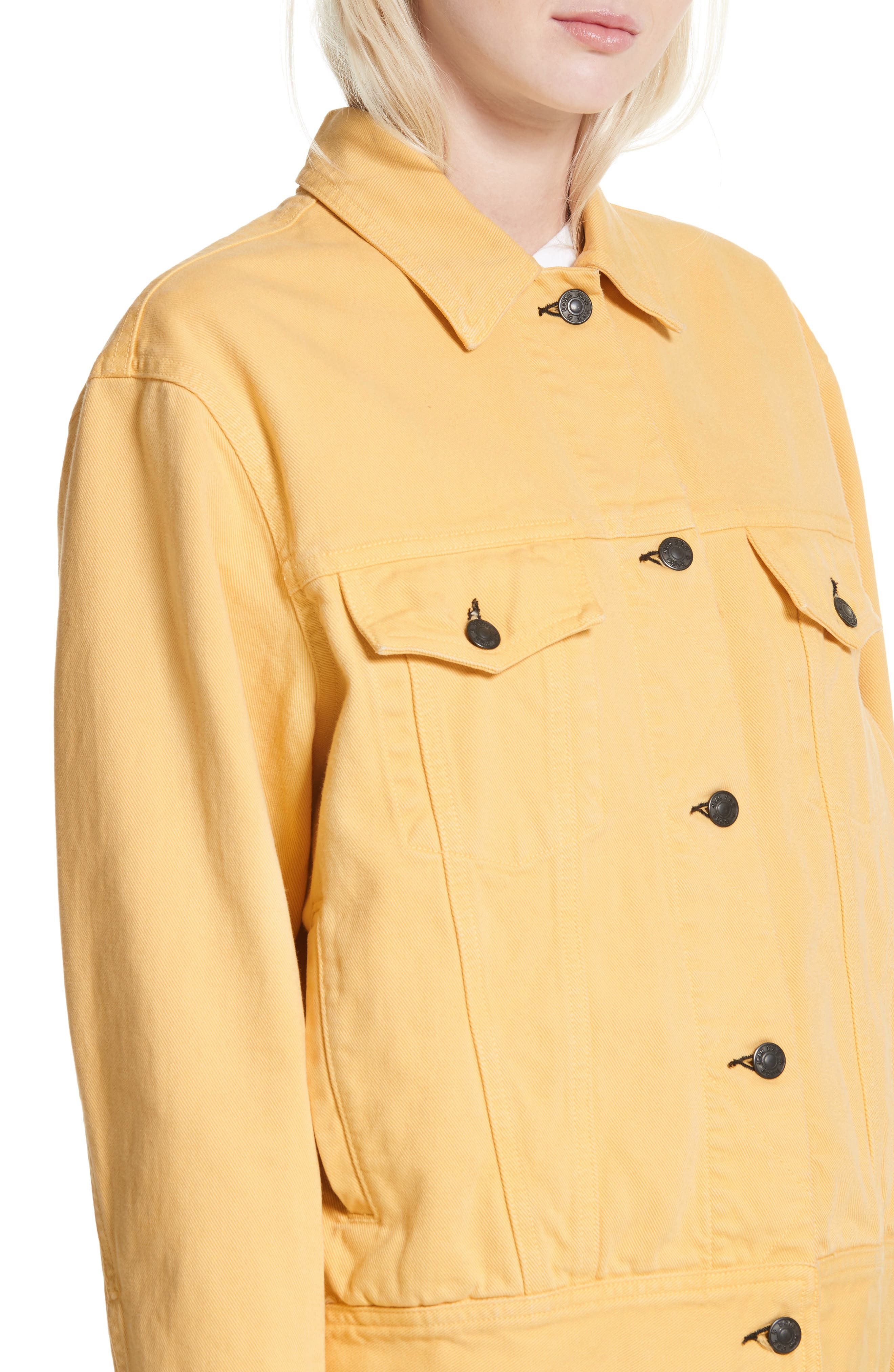 rag & bone Oversize Twill Jacket,                             Alternate thumbnail 4, color,