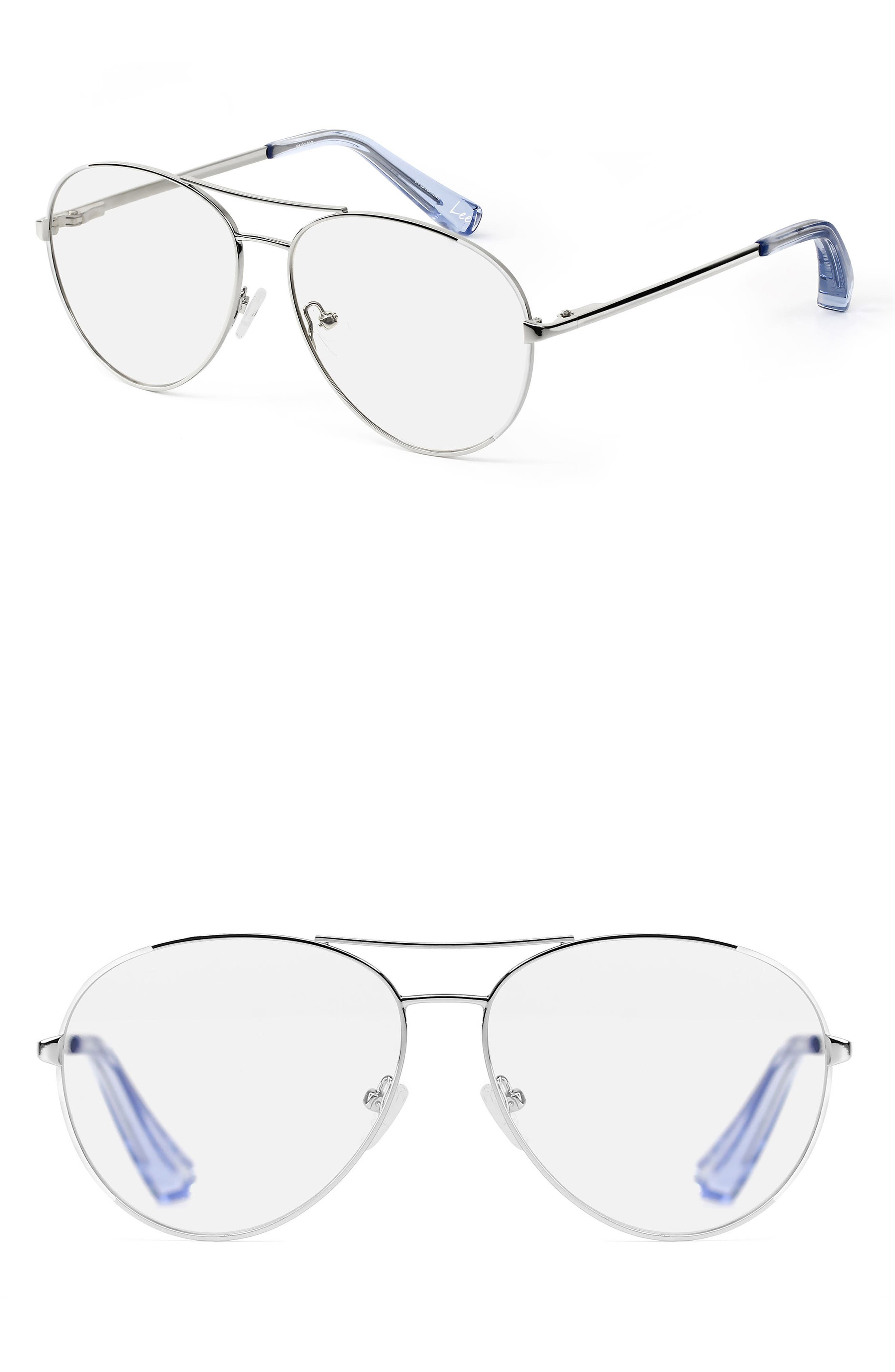 Lee 57mm Aviator Optical Glasses,                             Main thumbnail 1, color,                             040