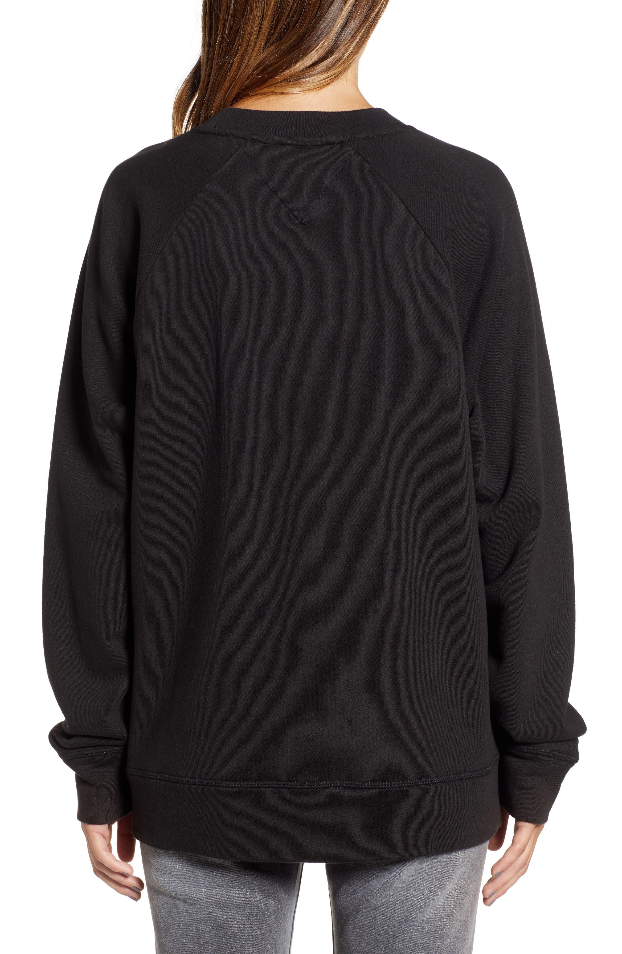 Oversize New York Sweatshirt,                             Alternate thumbnail 2, color,                             TOMMY BLACK
