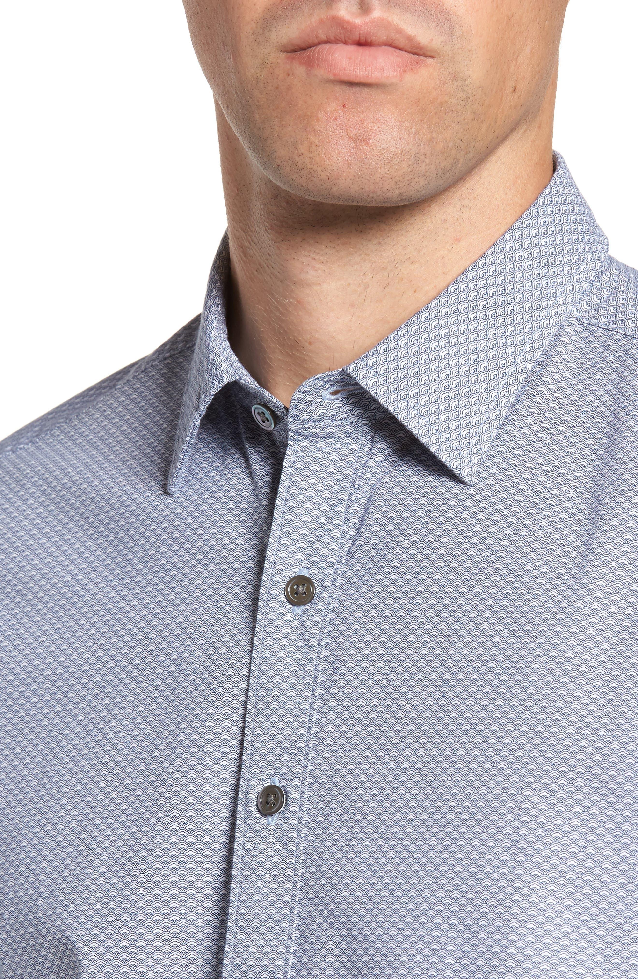 Macauley Sports Fit Print Sport Shirt,                             Alternate thumbnail 4, color,                             423