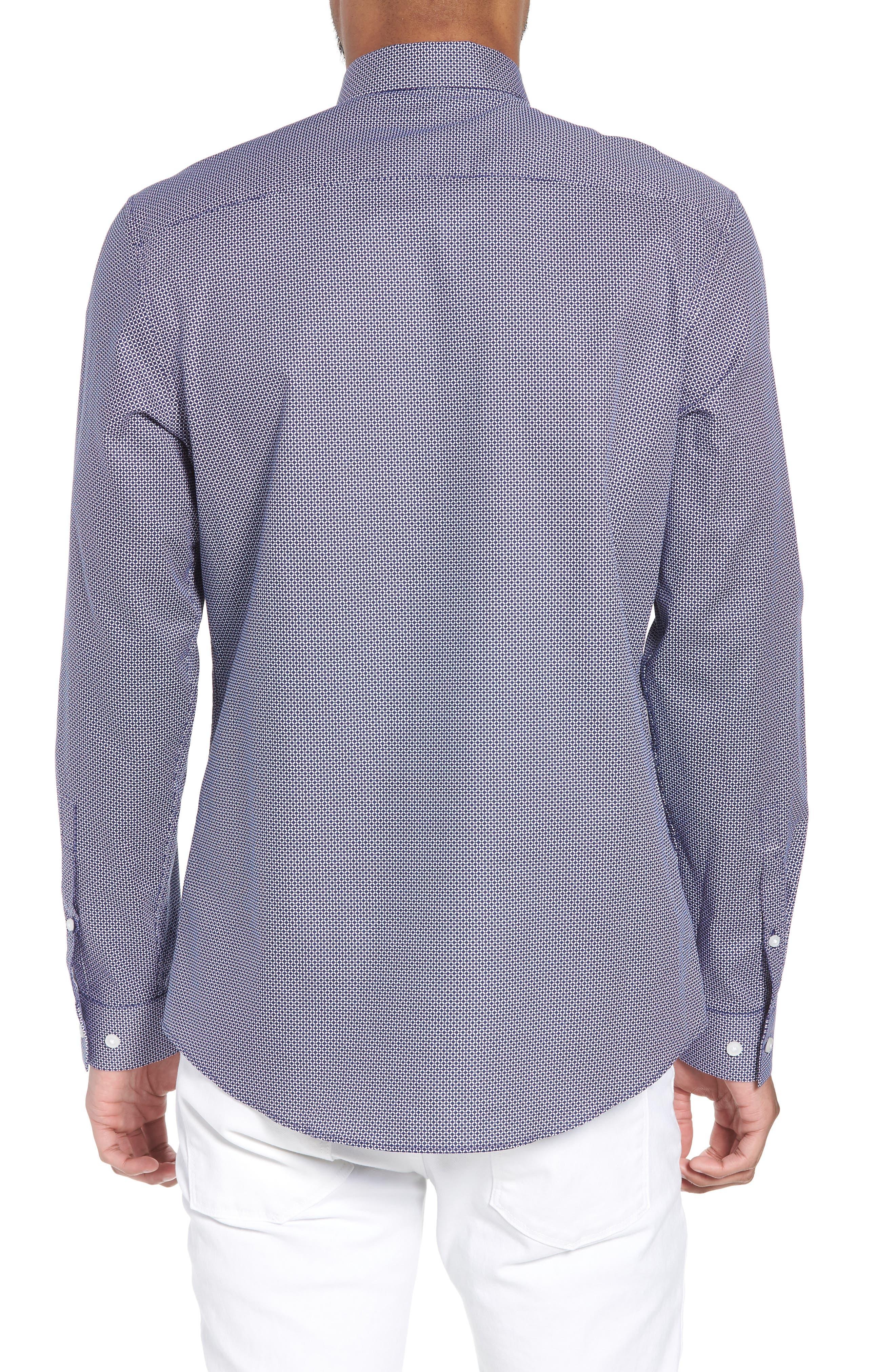 Trim Fit Micro Collar Sport Shirt,                             Alternate thumbnail 2, color,                             410