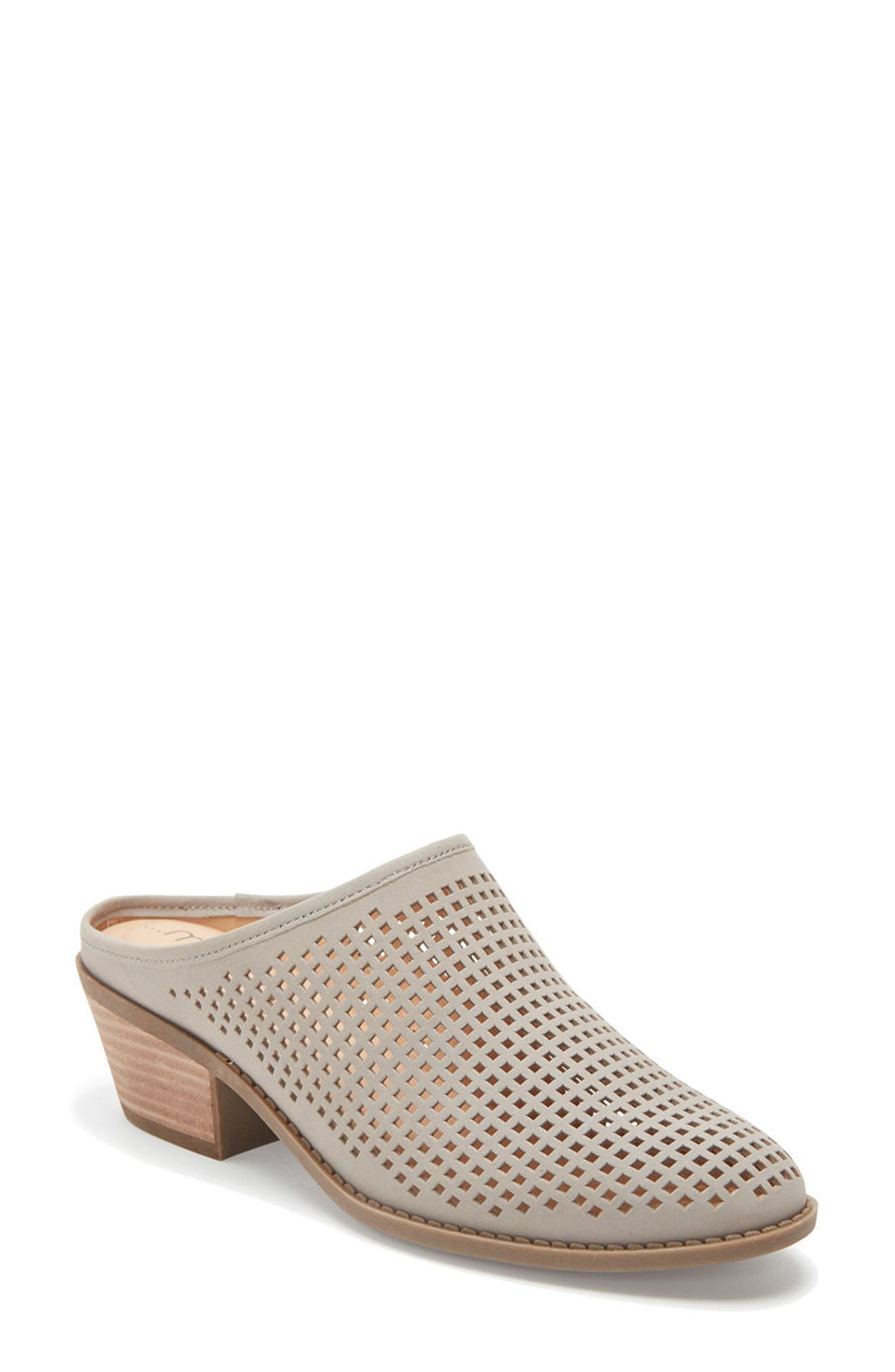 Zara Block Heel Mule,                             Main thumbnail 1, color,                             082
