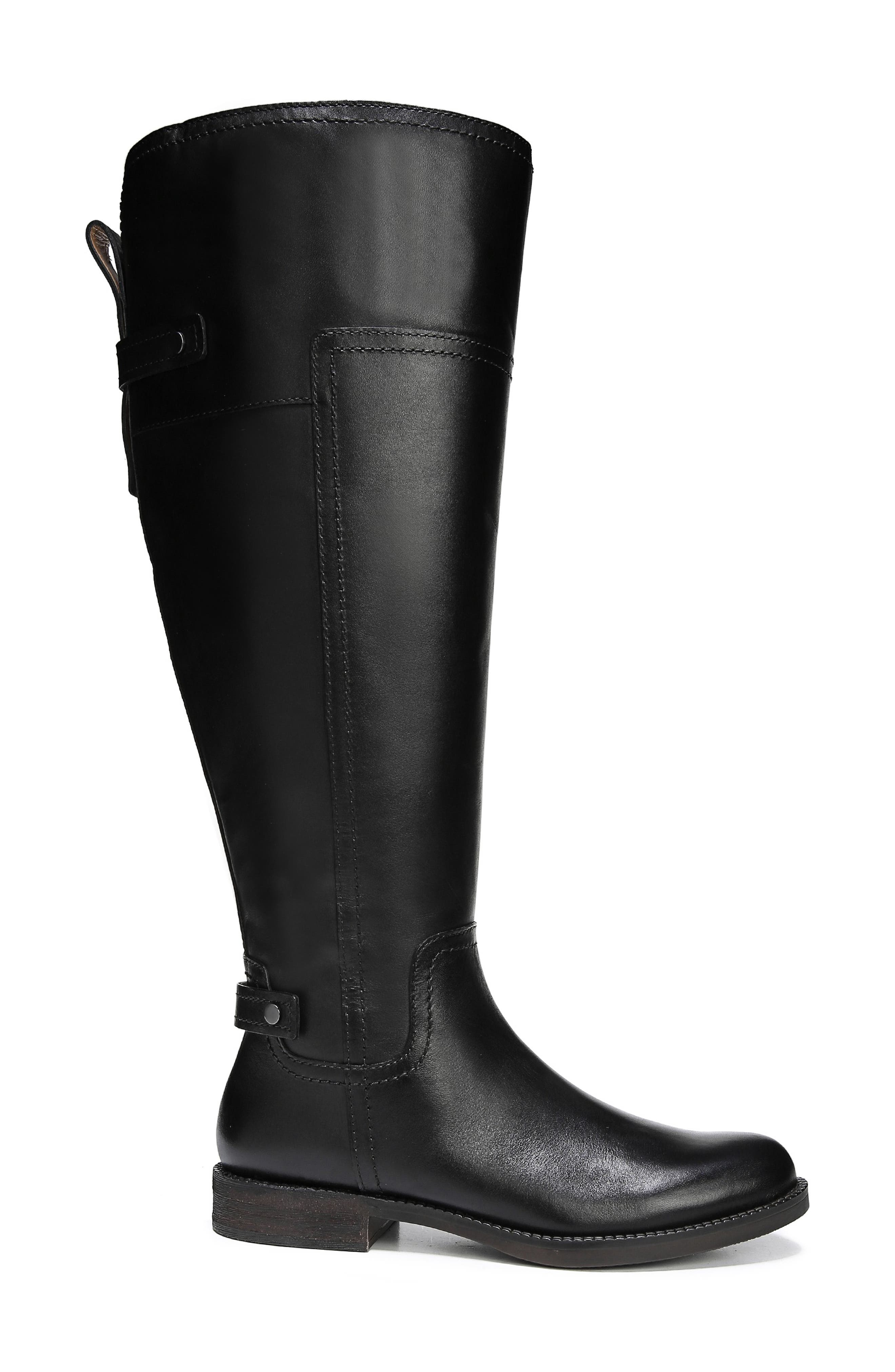 Capitol Riding Boot,                             Alternate thumbnail 9, color,                             BLACK LEATHER