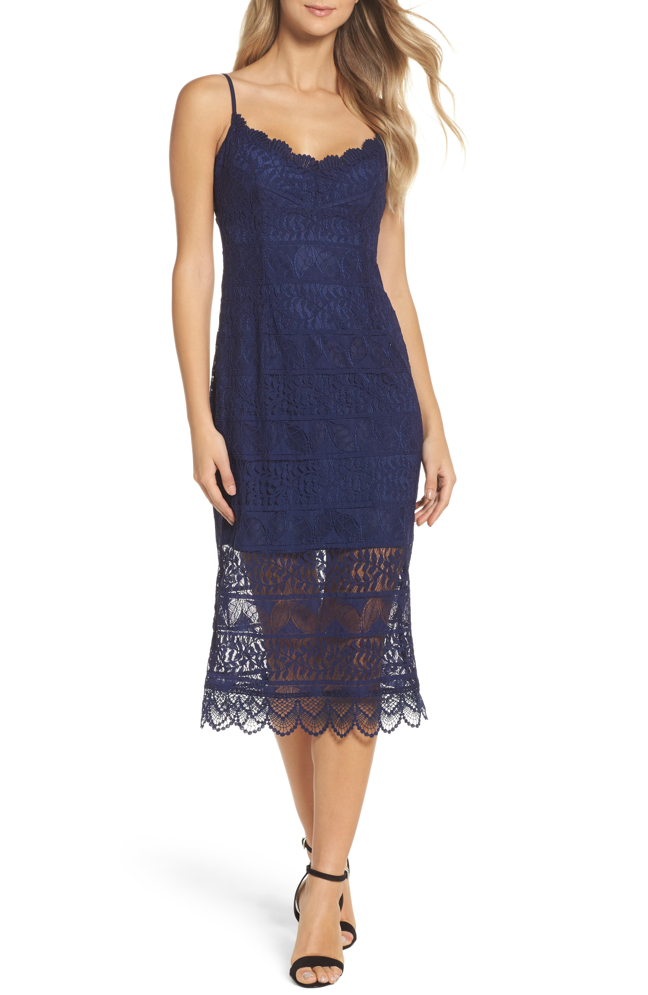 Floral Lace Slipdress,                         Main,                         color, 410