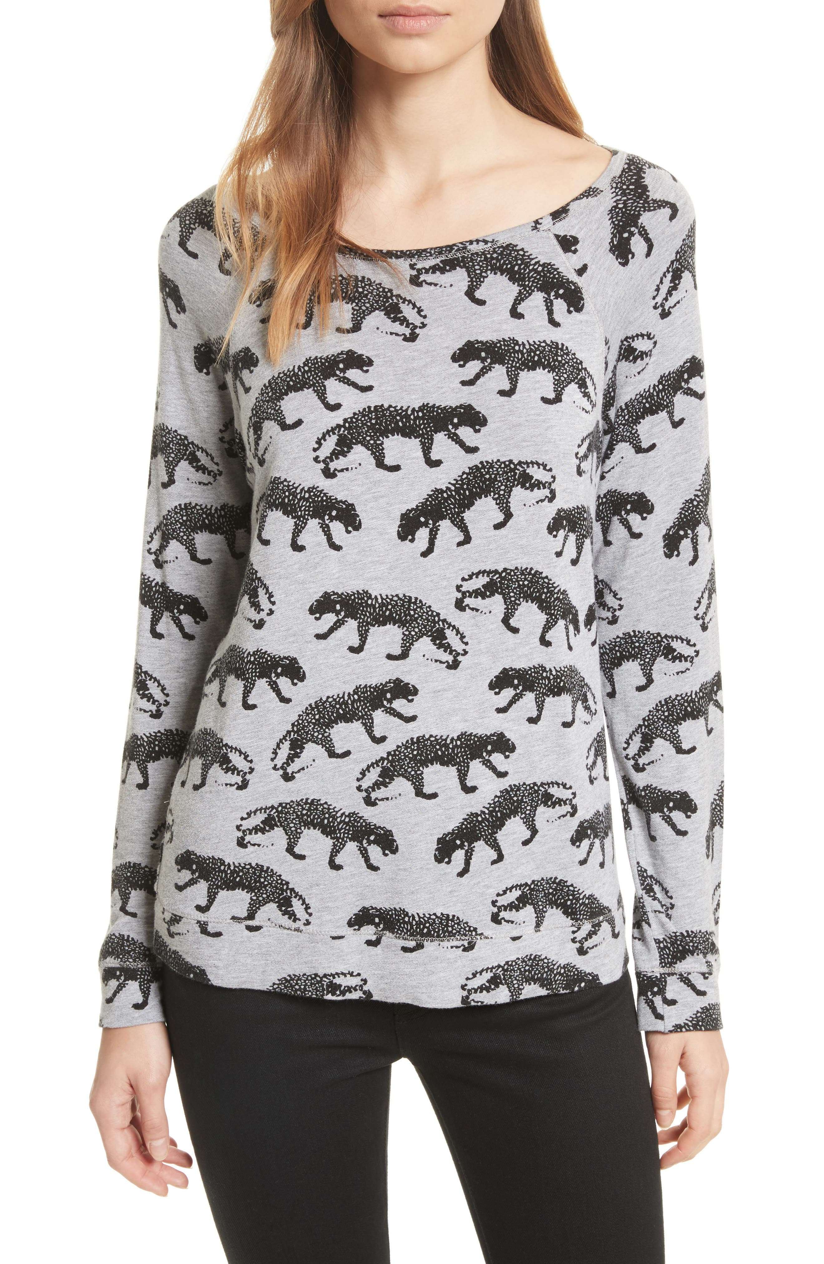 Annora B Animal Print Sweatshirt,                             Main thumbnail 1, color,                             033