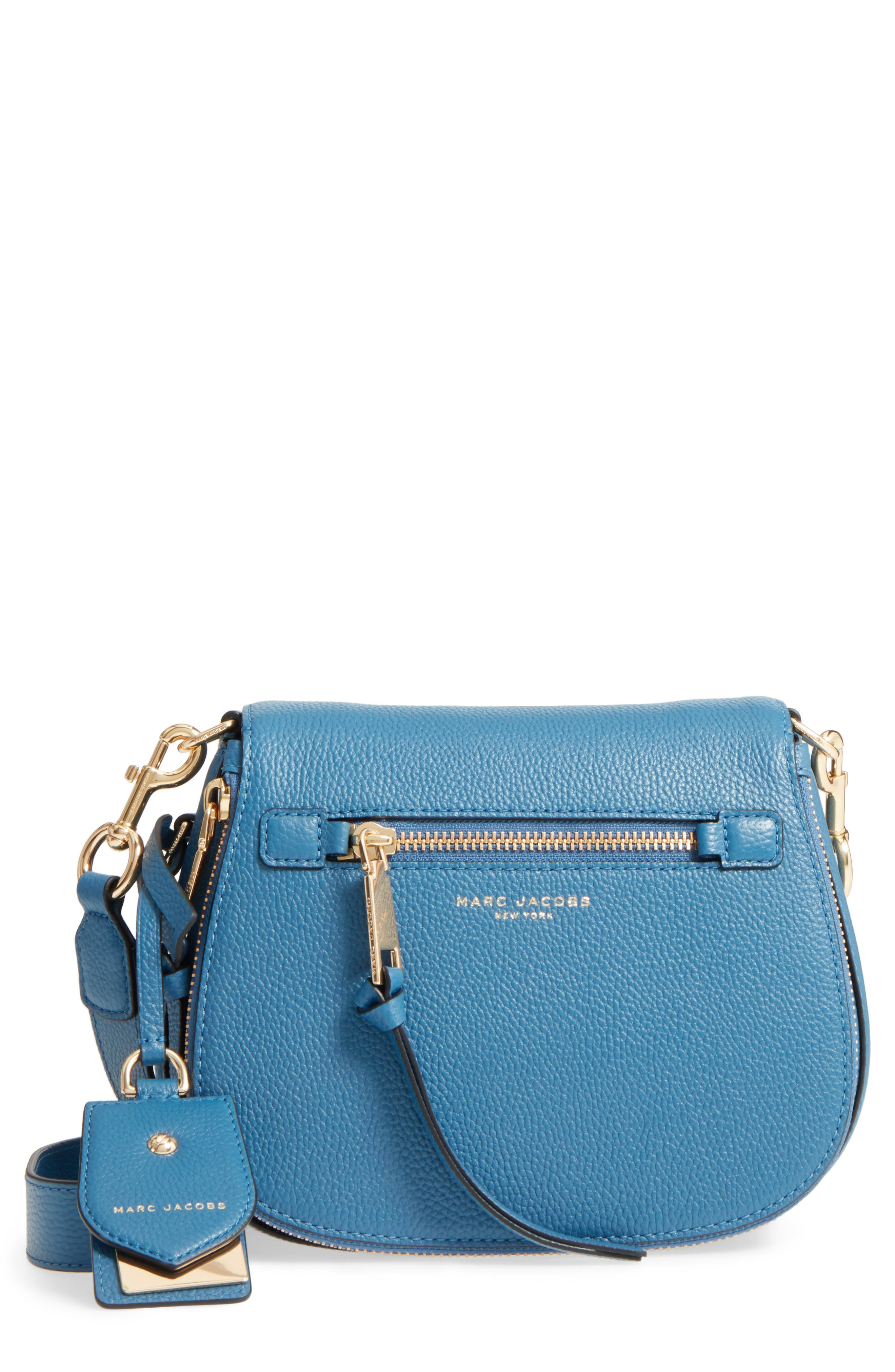 Small Recruit Nomad Pebbled Leather Crossbody Bag,                             Main thumbnail 1, color,