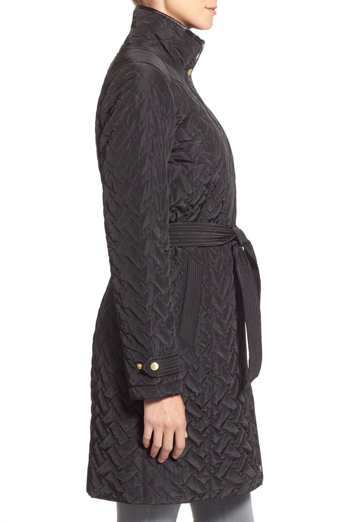 Belted Quilted Coat,                             Alternate thumbnail 22, color,