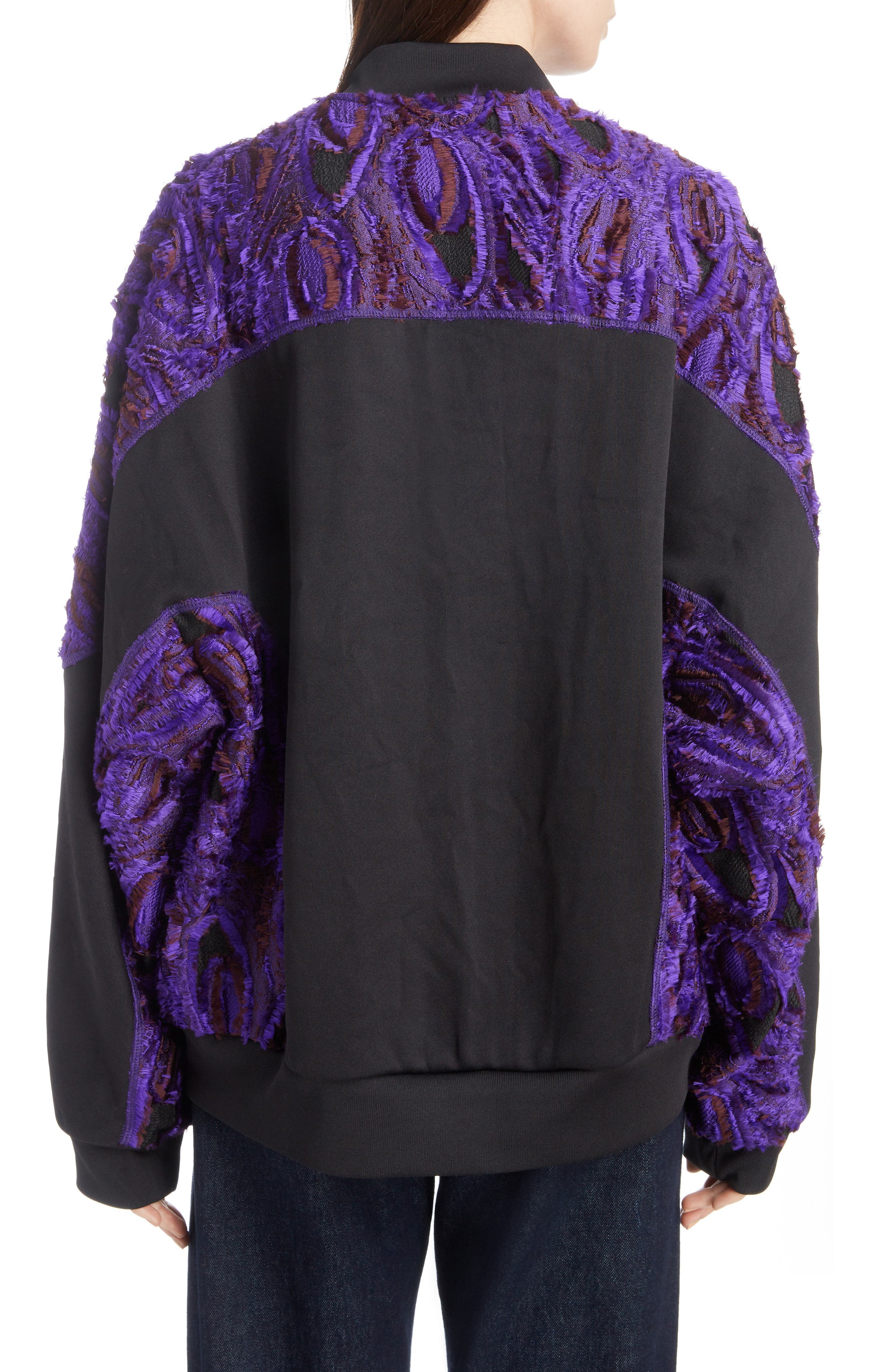 Textured Bomber Jacket,                             Alternate thumbnail 2, color,                             BLACK