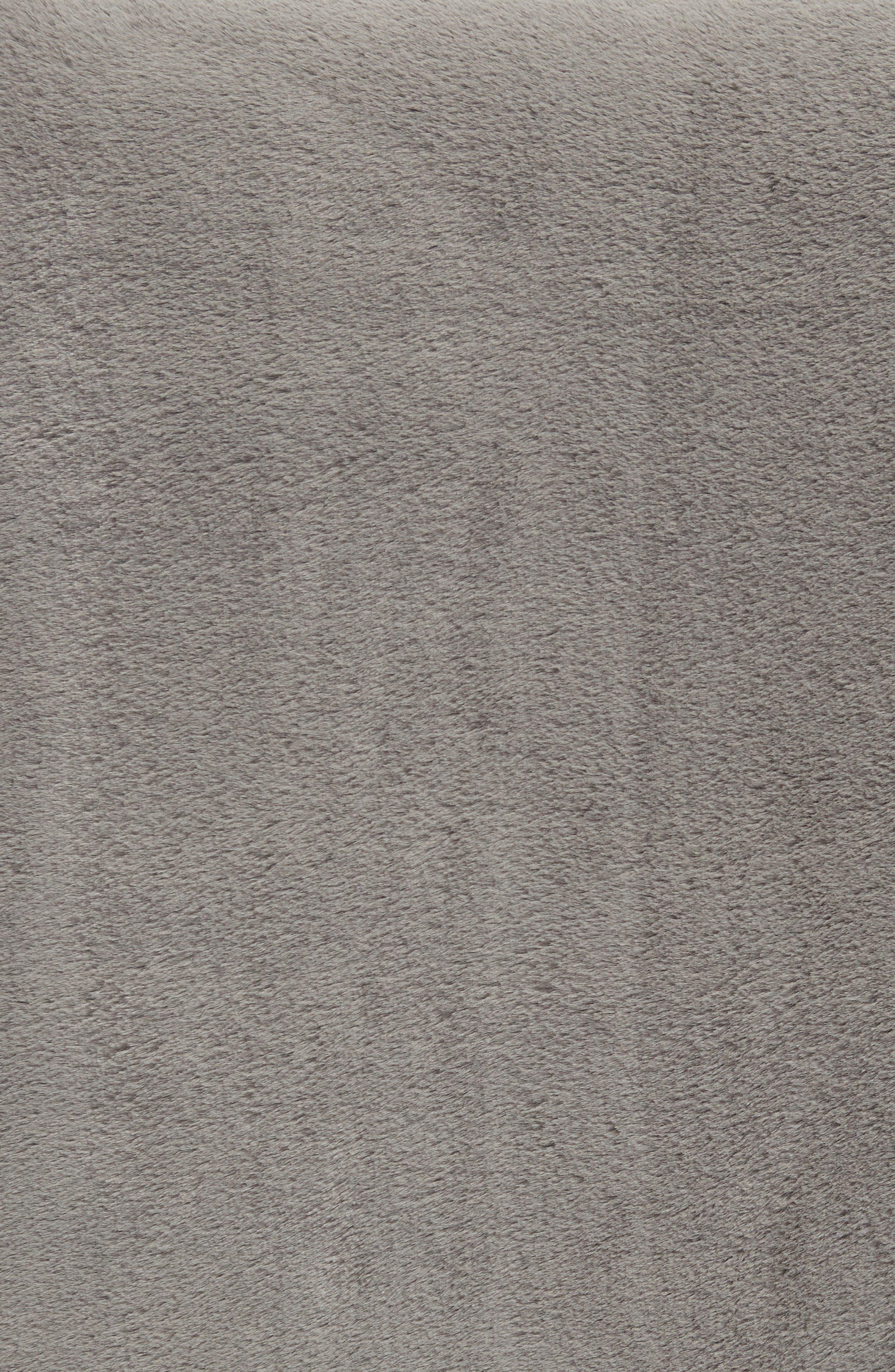 Reversible Plush Throw Blanket,                             Alternate thumbnail 2, color,                             GREY FROST