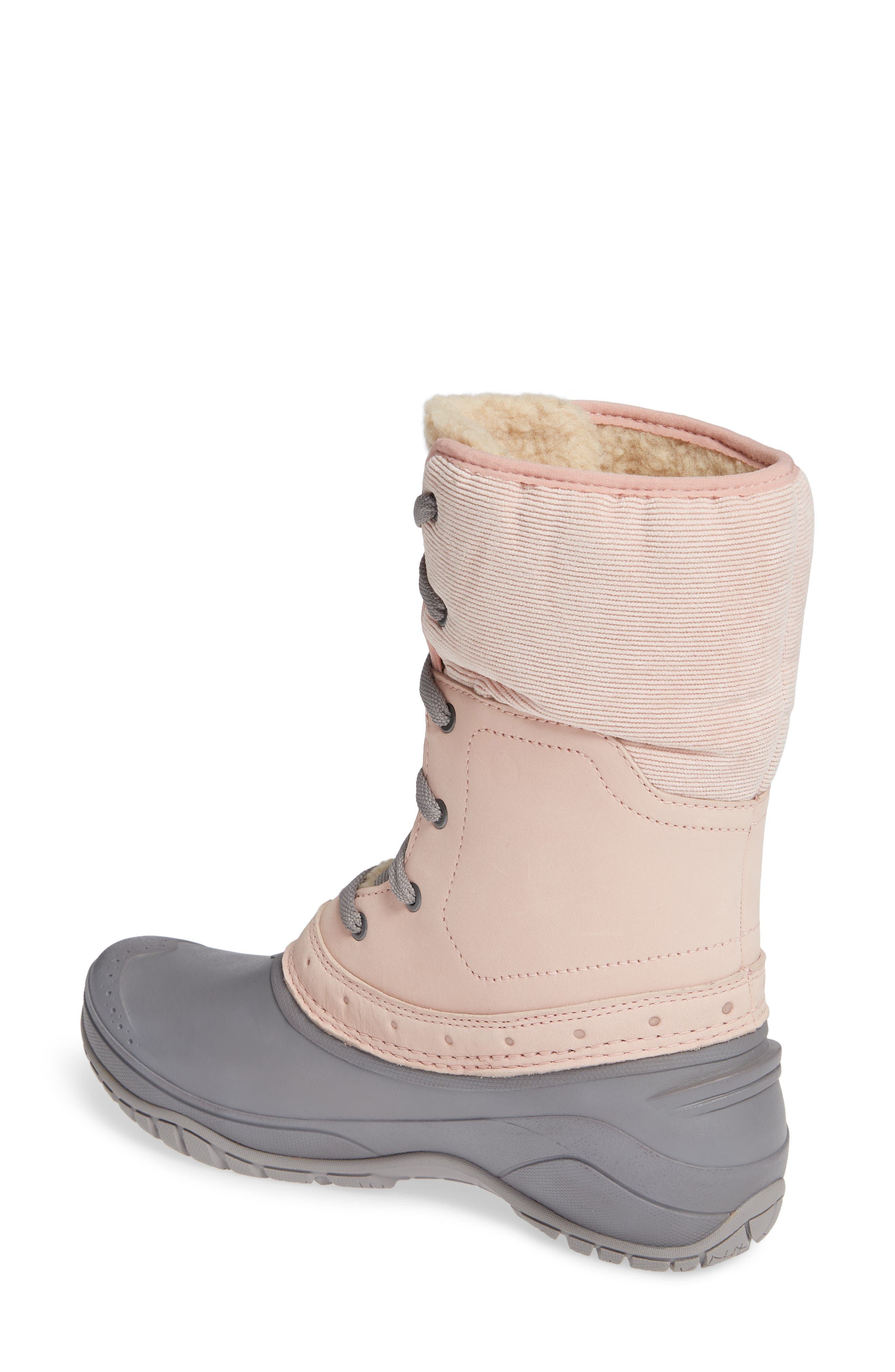Shellista Roll Cuff Waterproof Insulated Winter Boot,                             Alternate thumbnail 2, color,                             MISTY ROSE/ Q-SILVER GREY