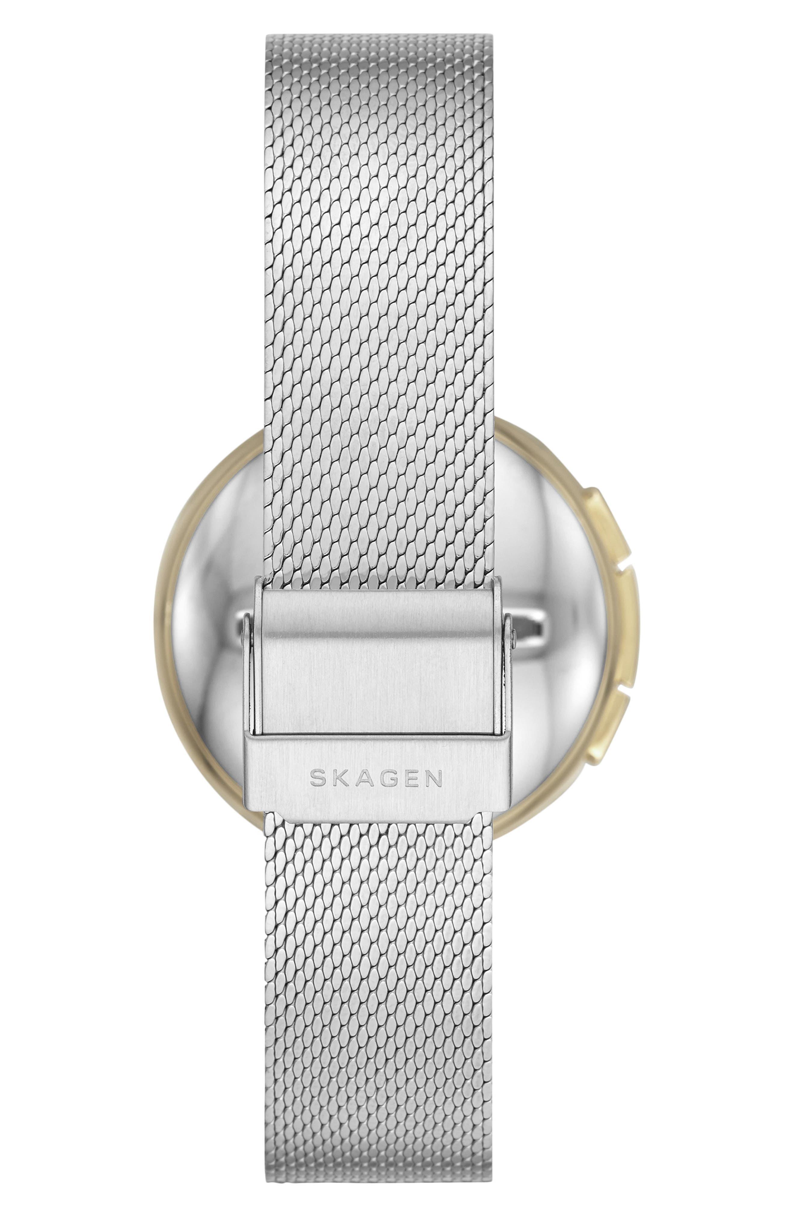 Signature T-Bar Hybrid Smartwatch, 36mm,                             Alternate thumbnail 2, color,                             SILVER/ GOLD