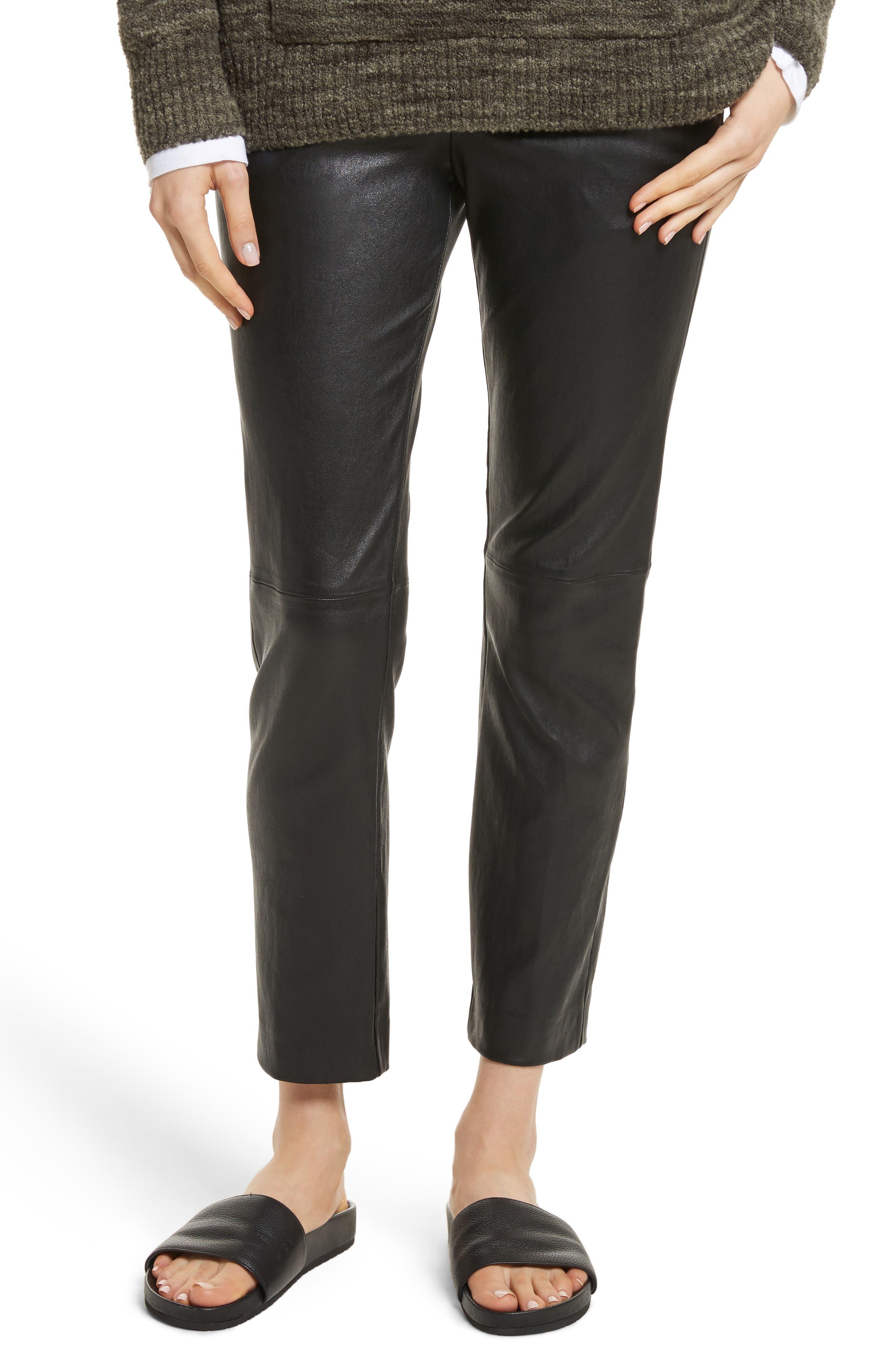 Leather Pants,                             Main thumbnail 1, color,