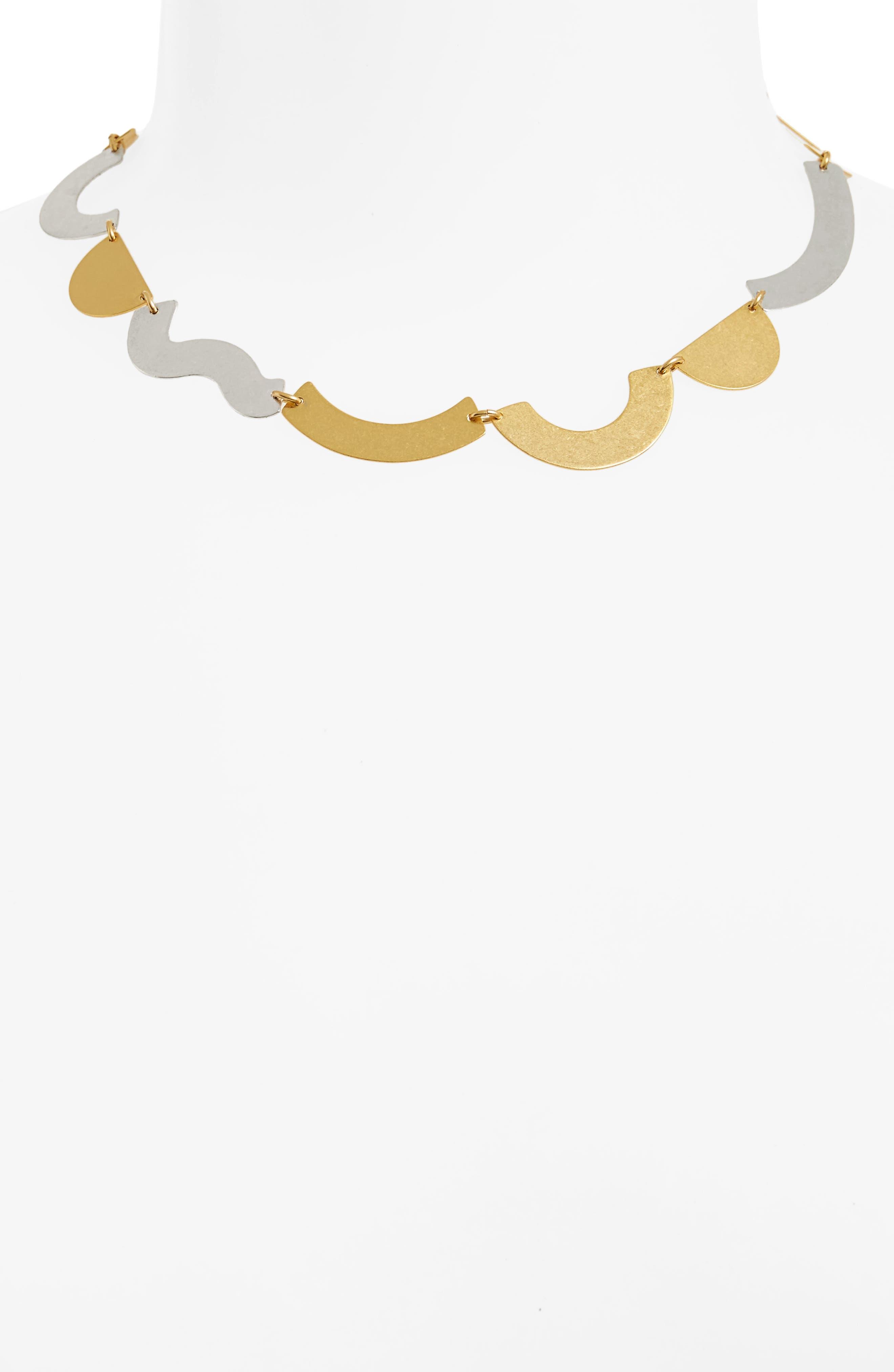 Flatform Collar Necklace,                             Alternate thumbnail 2, color,                             710