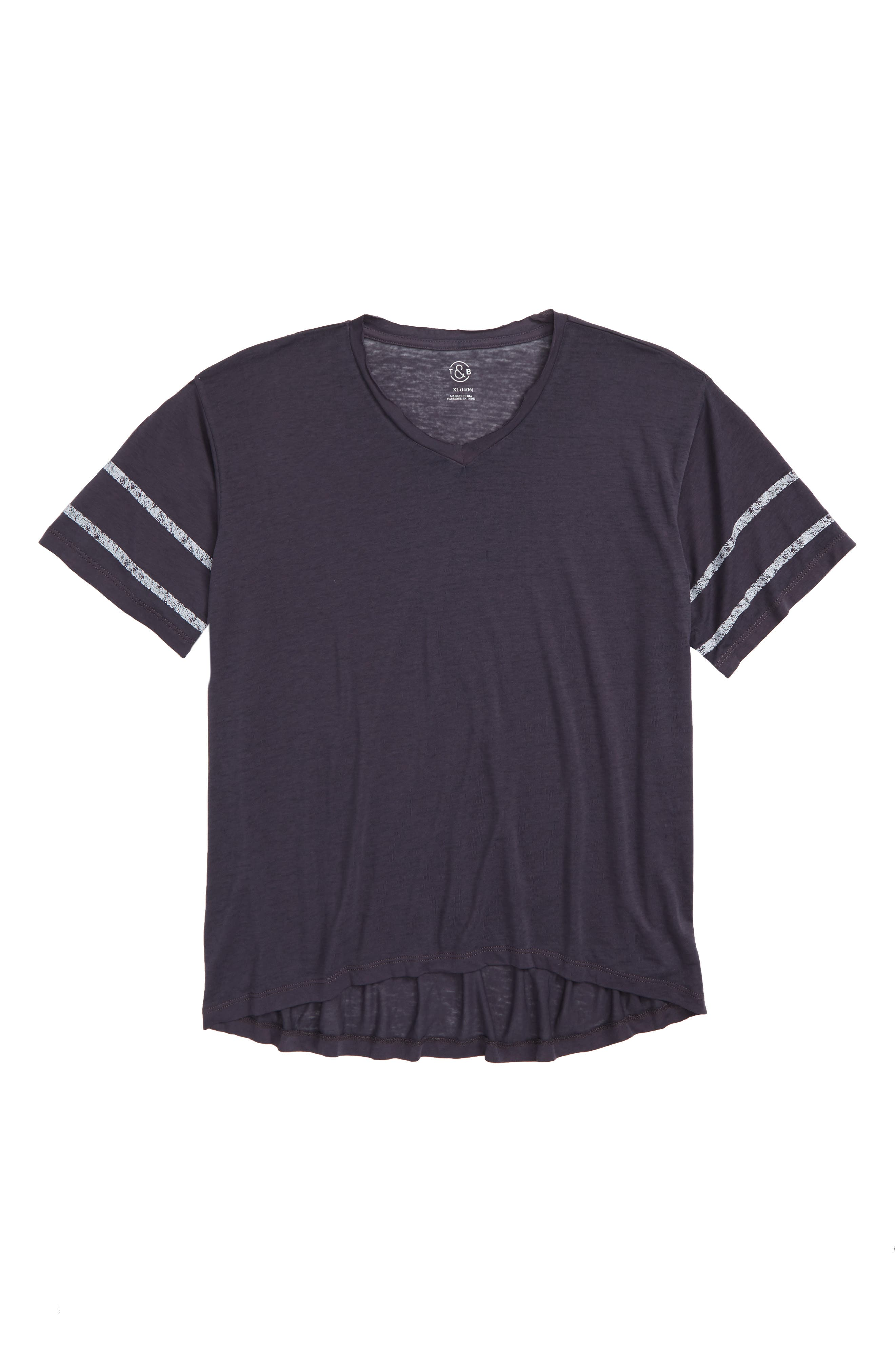 Burnout Boyfriend Tee,                         Main,                         color, NAVY INDIA INK