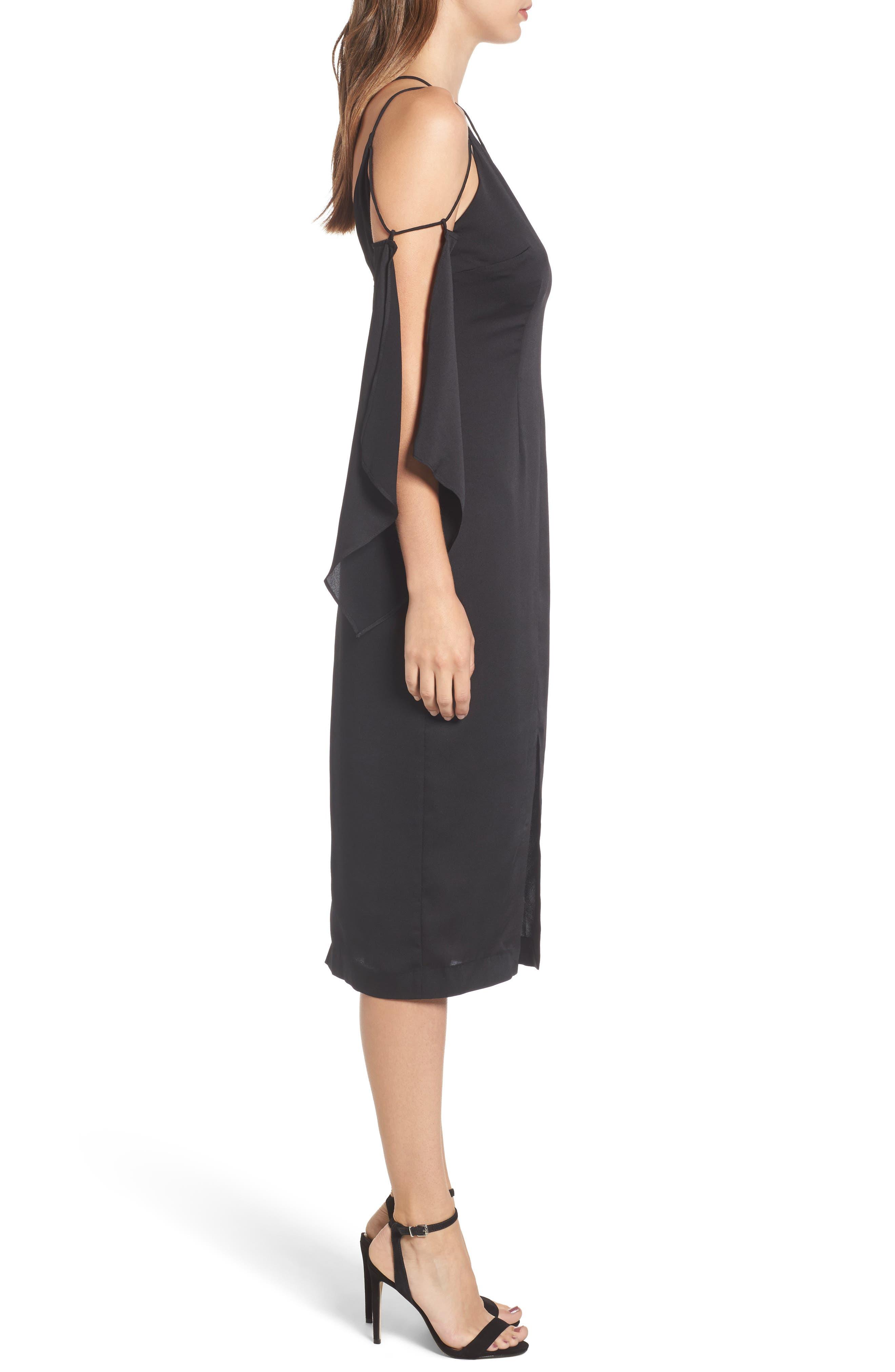 Raindrops Midi Dress,                             Alternate thumbnail 3, color,                             001