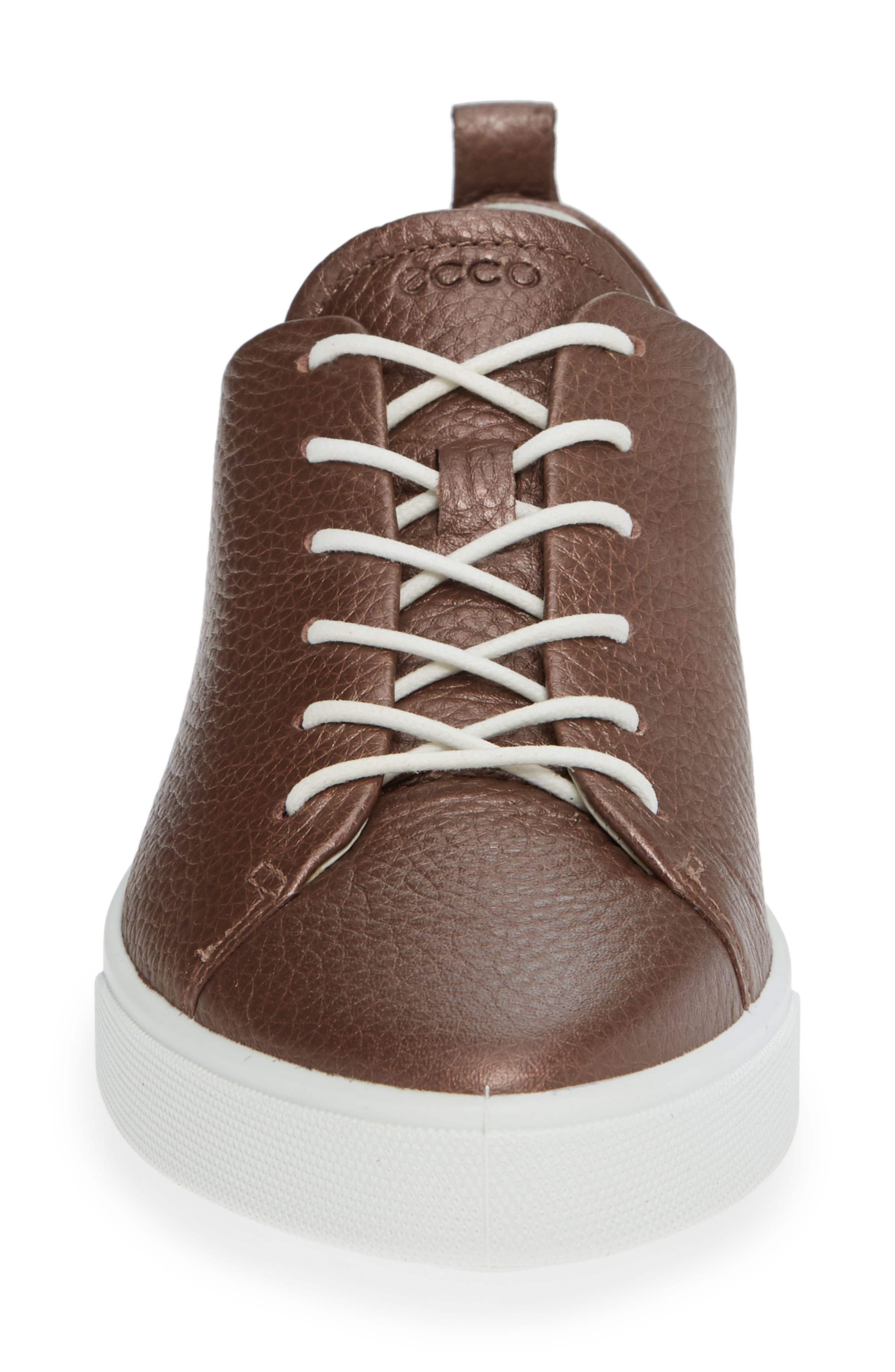 Gillian Sneaker,                             Alternate thumbnail 4, color,                             DEEP TAUPE/ BRONZE LEATHER