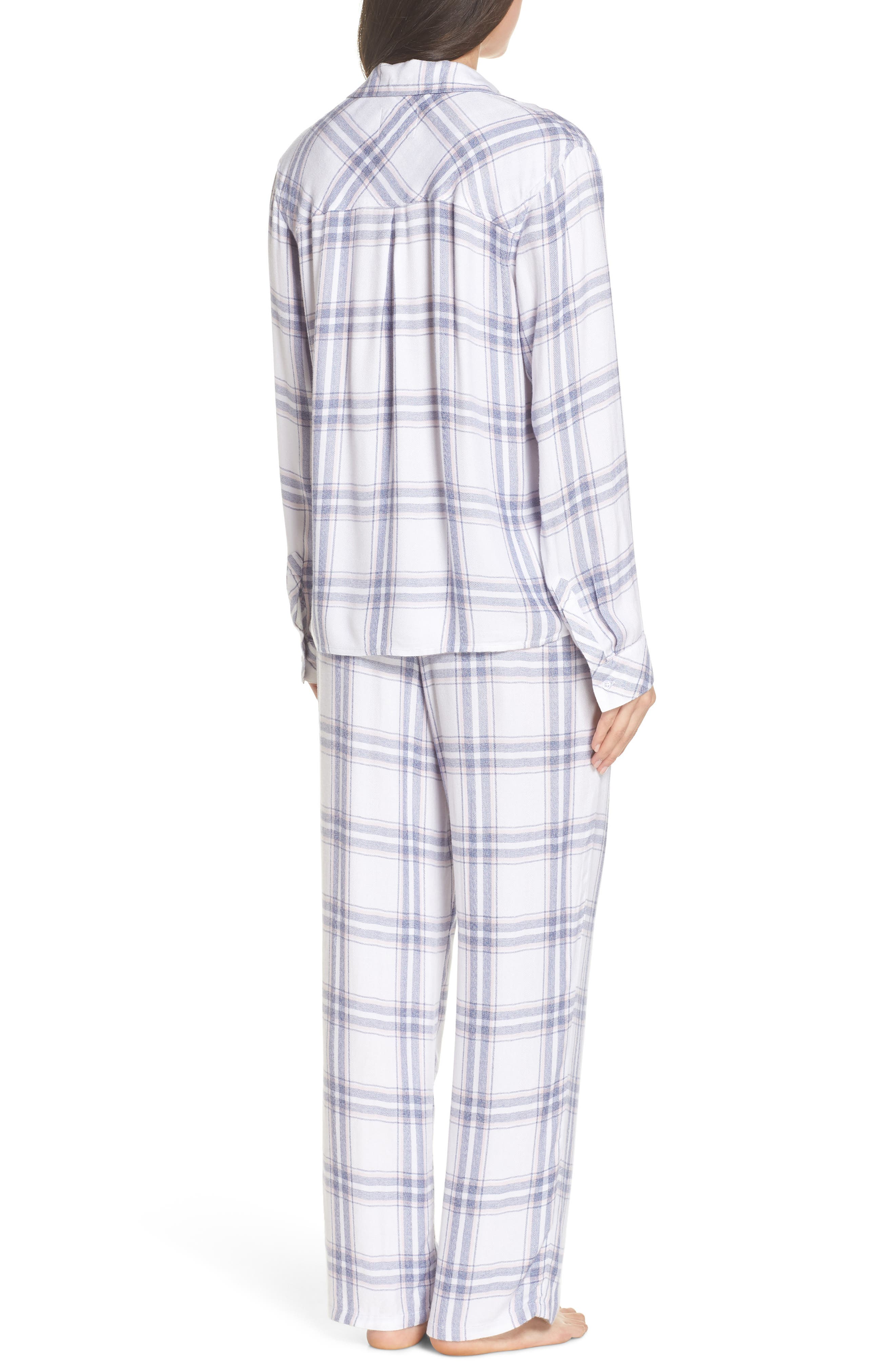 Trouser Pajamas,                             Alternate thumbnail 2, color,                             IVORY SKY BLUSH
