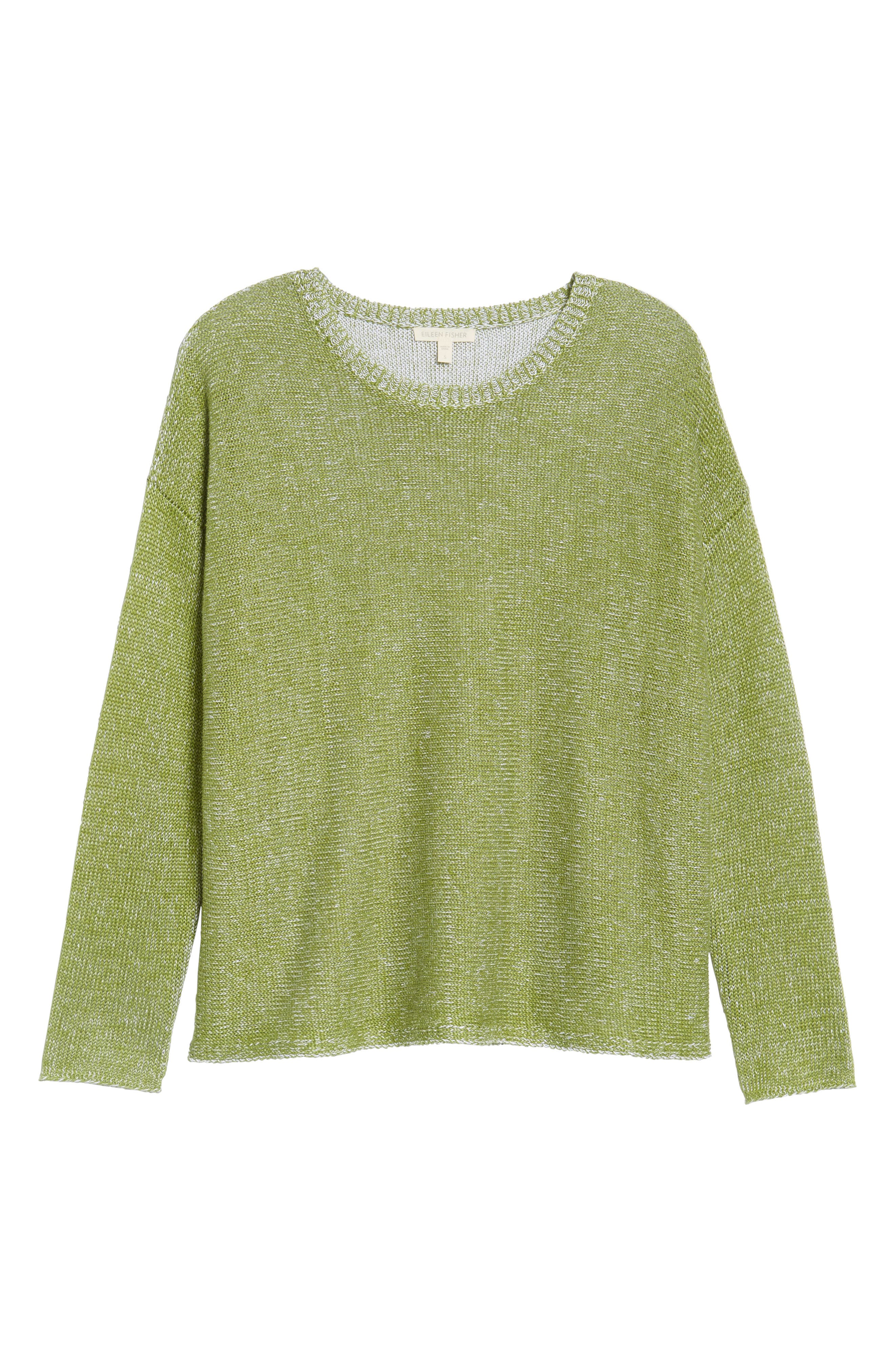Boxy Organic Linen Sweater,                             Alternate thumbnail 6, color,                             308