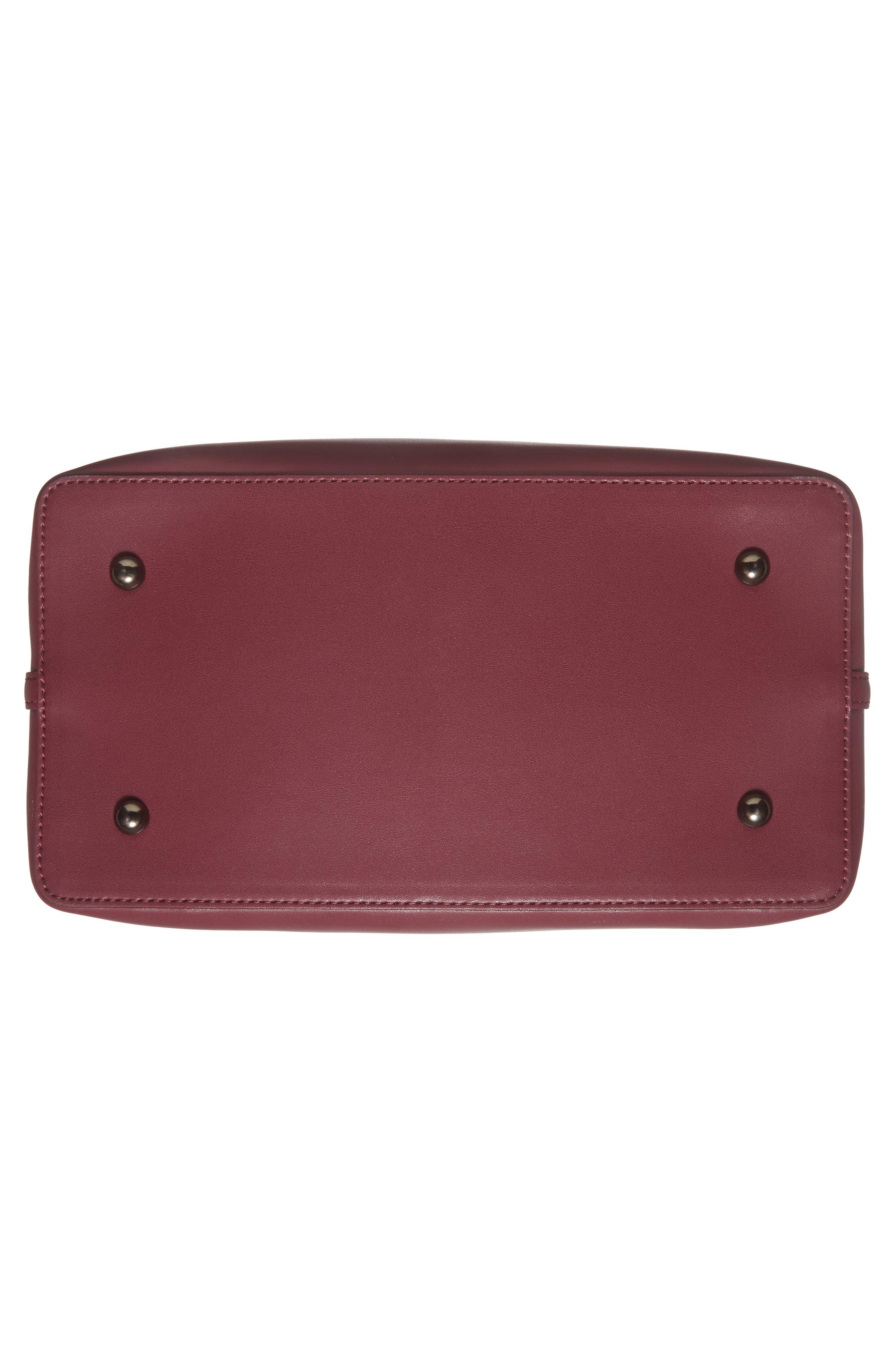 Raisin Leather Handbag,                             Alternate thumbnail 48, color,