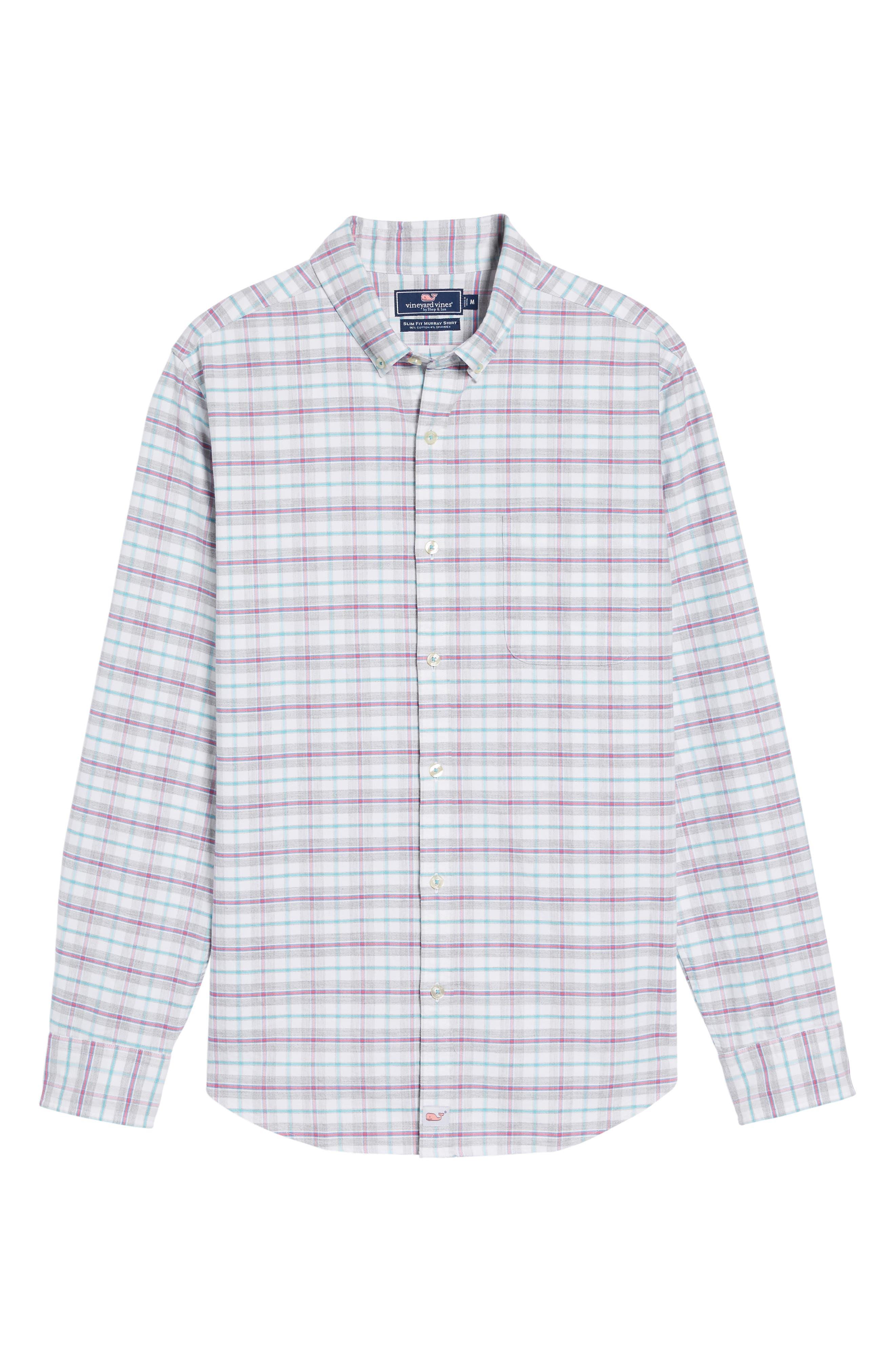 Lockwood Slim Fit Check Sport Shirt,                             Alternate thumbnail 6, color,                             678