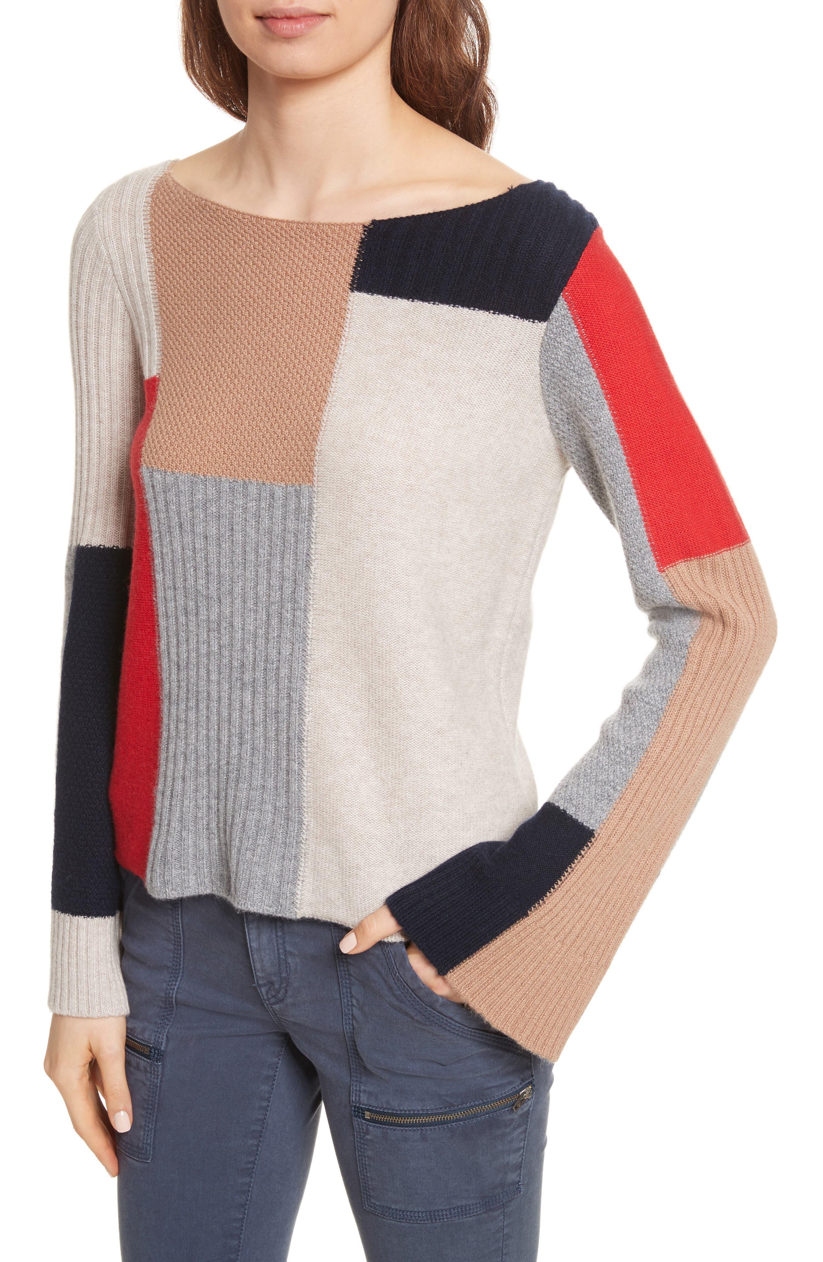 Adene Wool & Cashmere Sweater,                             Alternate thumbnail 4, color,                             641