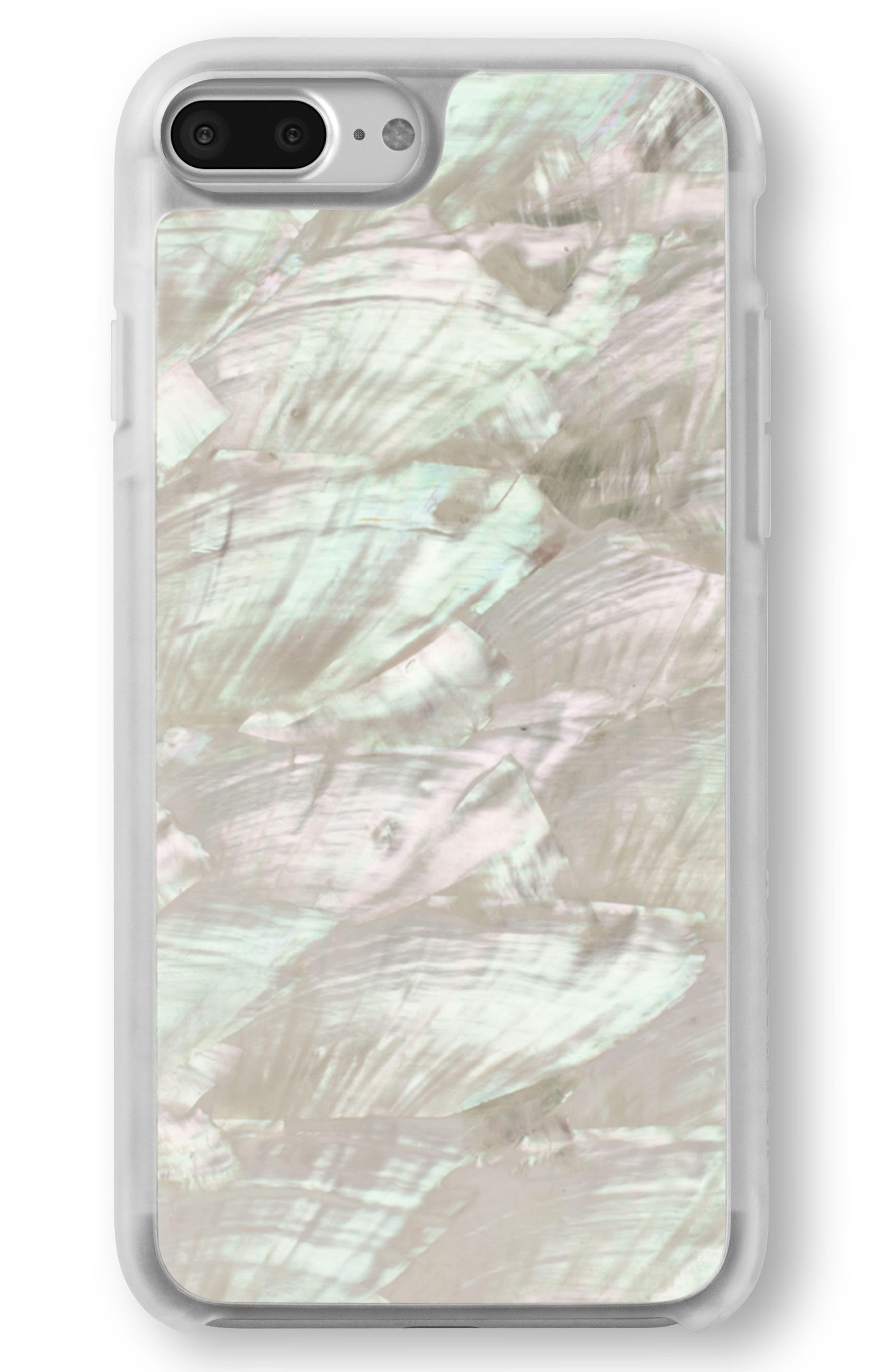 White Abalone iPhone 6/6s/7/8 & 6/6s/7/8 Plus Case,                             Main thumbnail 1, color,
