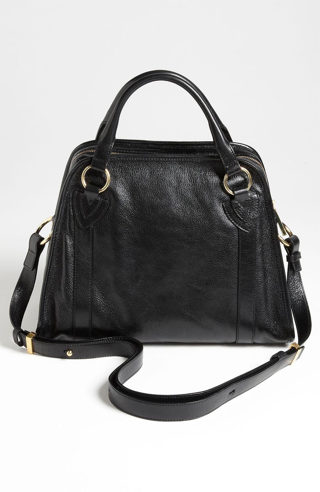 'Classic Wellington' Leather Satchel,                             Alternate thumbnail 44, color,