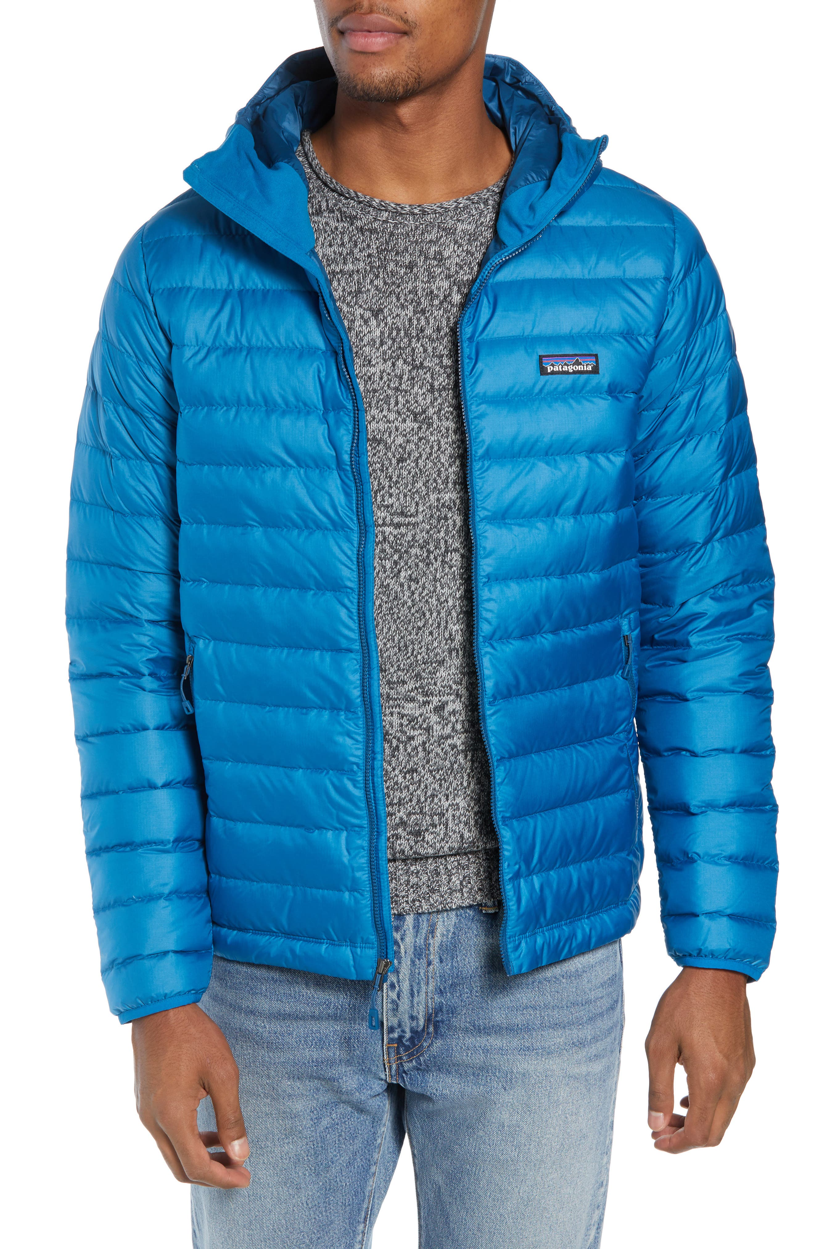 Packable Windproof & Water Resistant Goose Down Sweater Hooded Jacket,                             Main thumbnail 4, color,