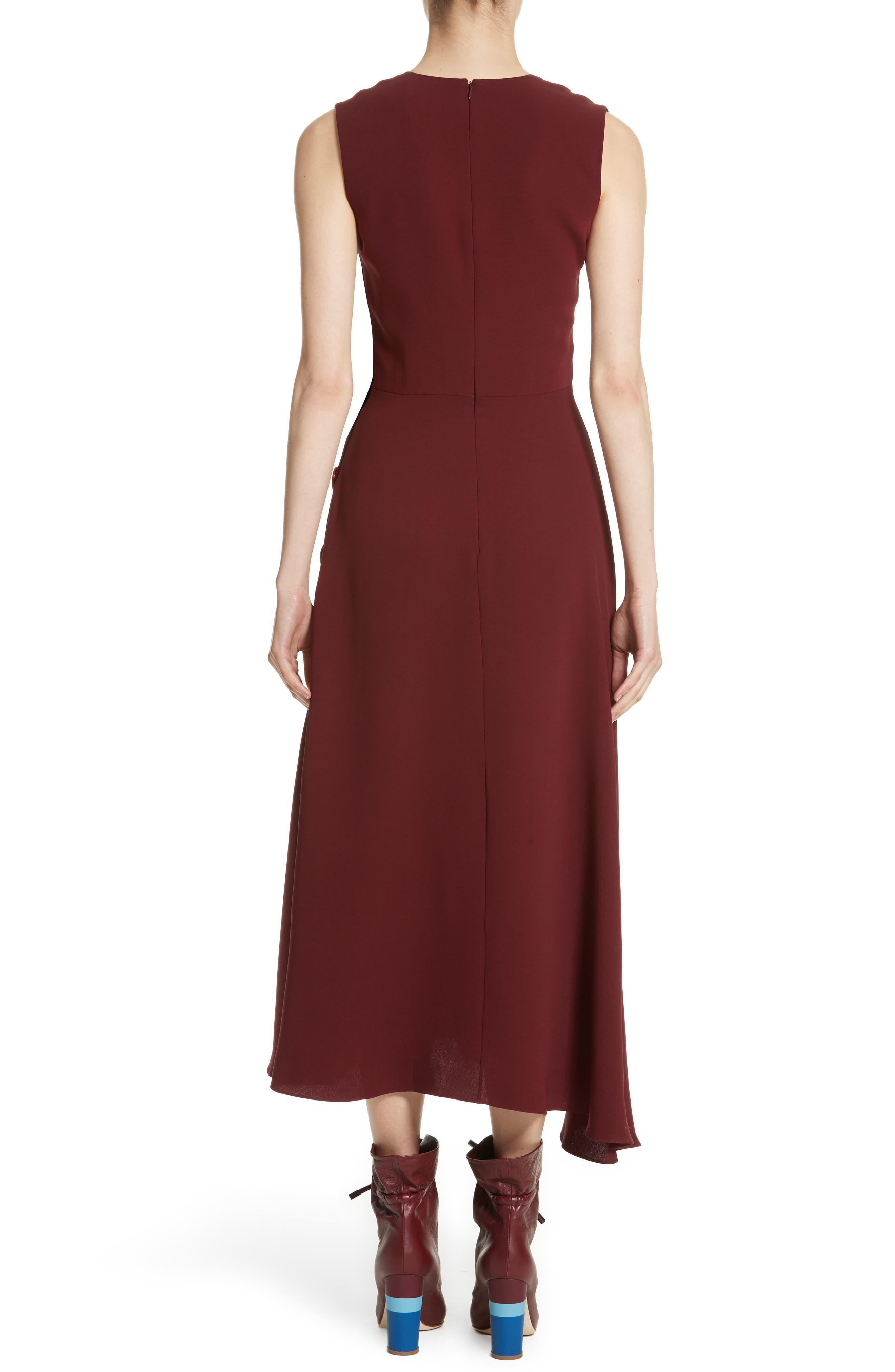 Hiroko Sleeveless Silk Dress,                             Alternate thumbnail 2, color,