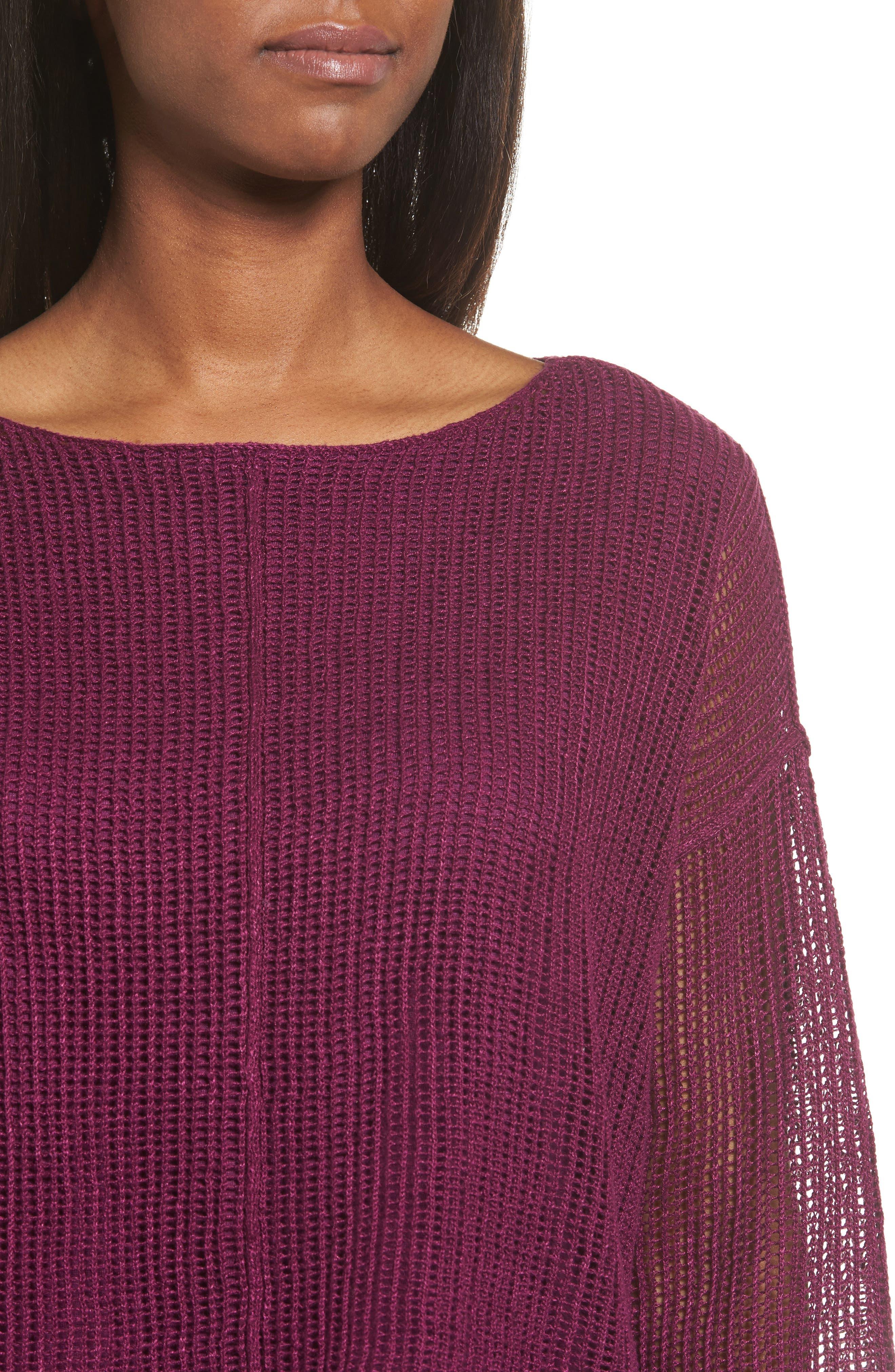 Organic Linen Crop Sweater,                             Alternate thumbnail 20, color,