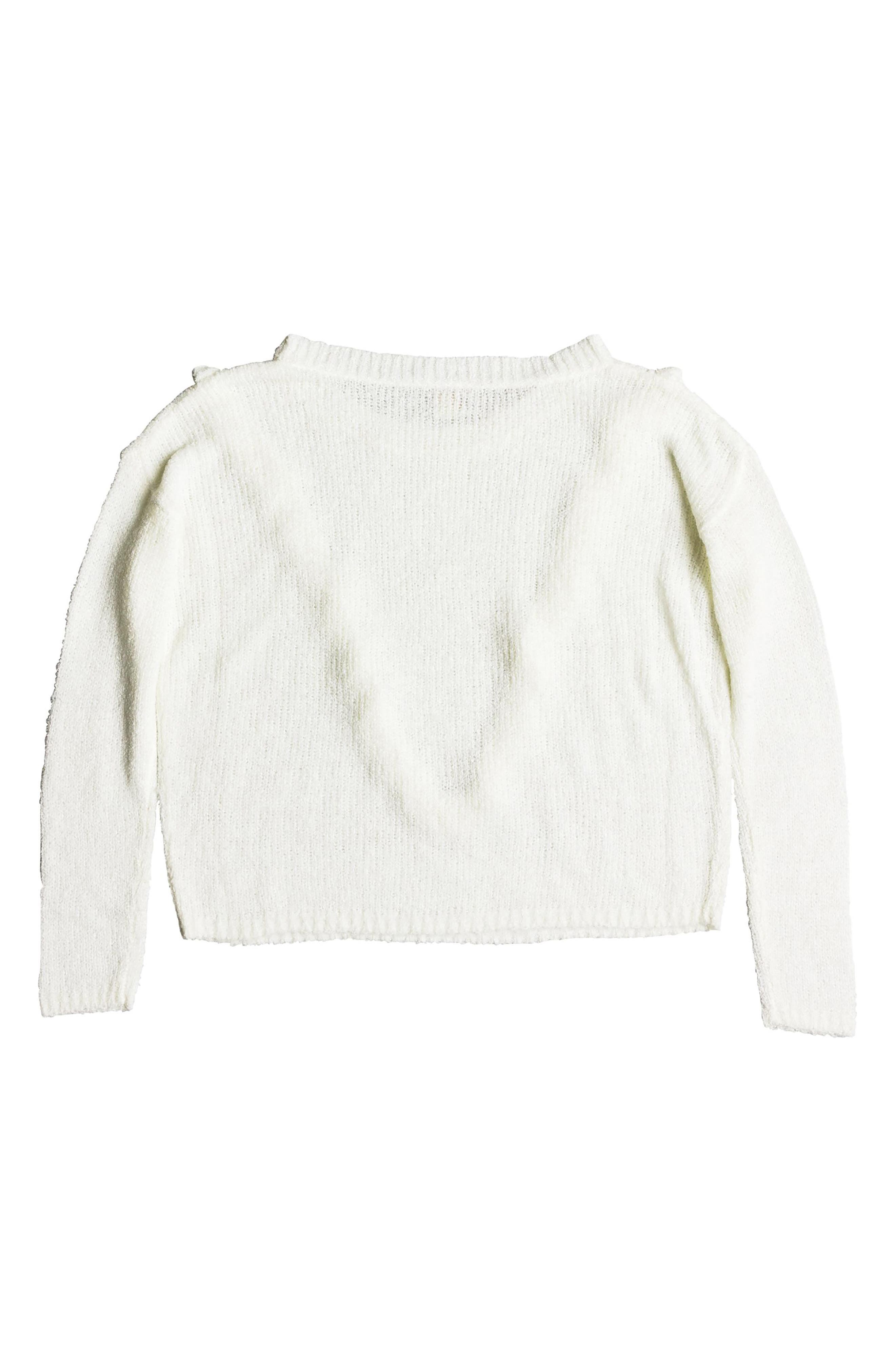 One Fine Stay Ruffle Sweater,                             Alternate thumbnail 6, color,                             MARSHMALLOW