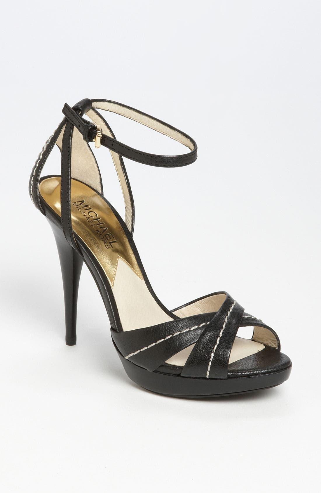 'Eleni' Platform Sandal,                             Main thumbnail 1, color,                             001
